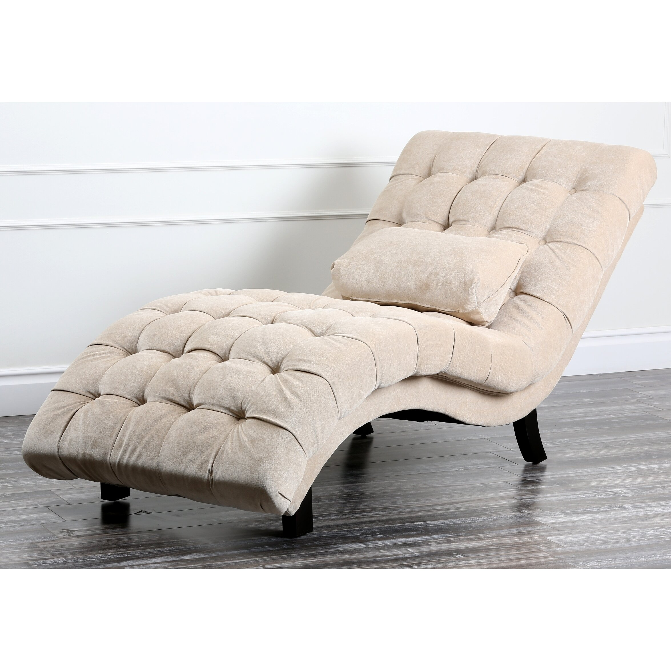 House of hampton lizard fabric chaise lounge reviews for Chaise and lounge