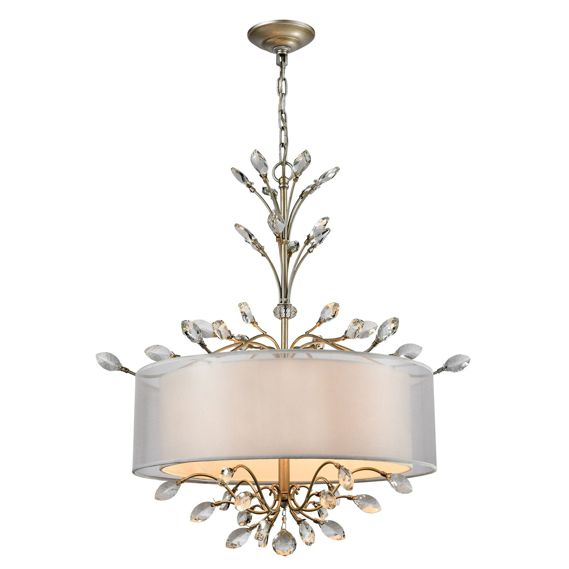 House Of Hampton Turner 4 Light Drum Chandelier Wayfair