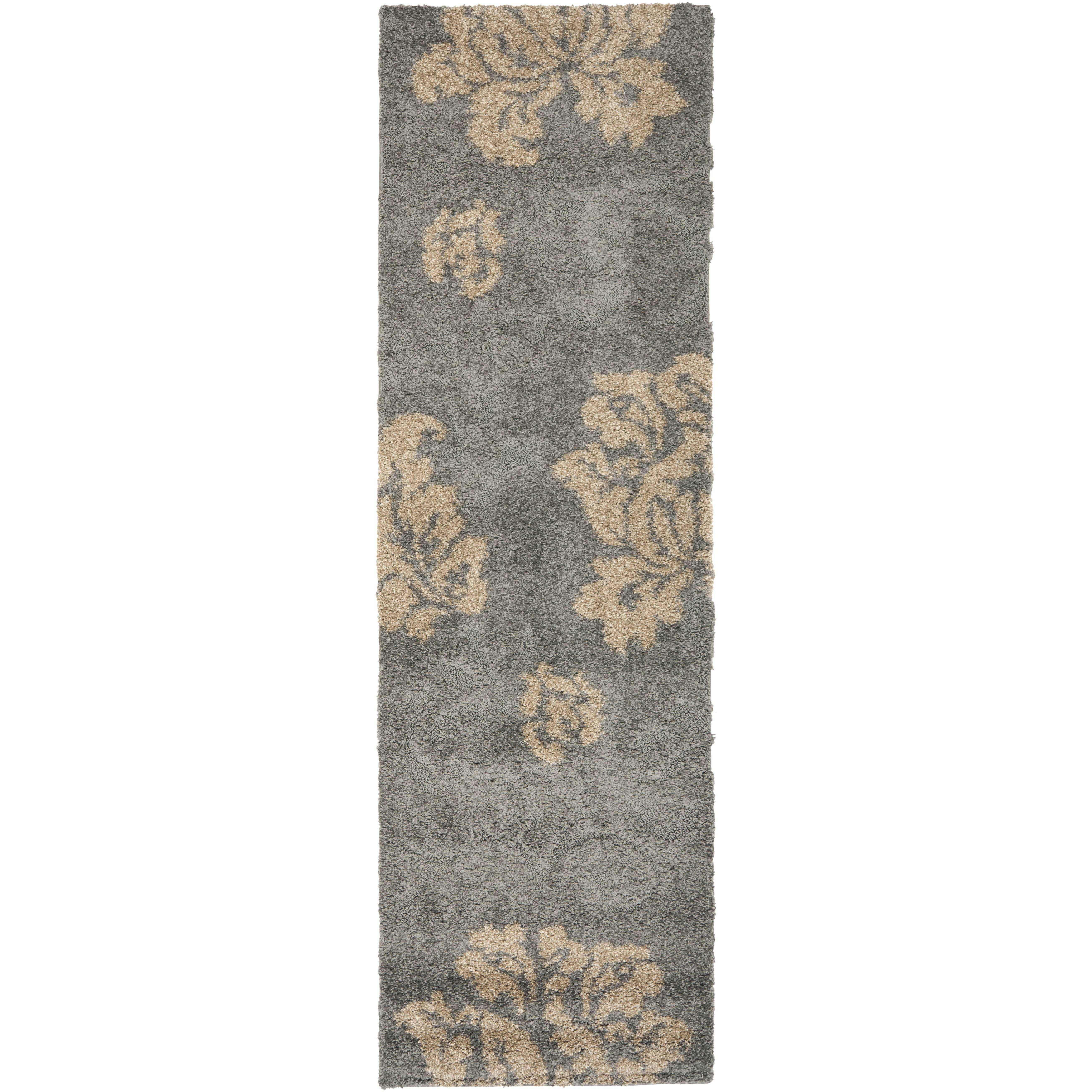 House Of Hampton Reubens Shag Grey Beige Area Rug