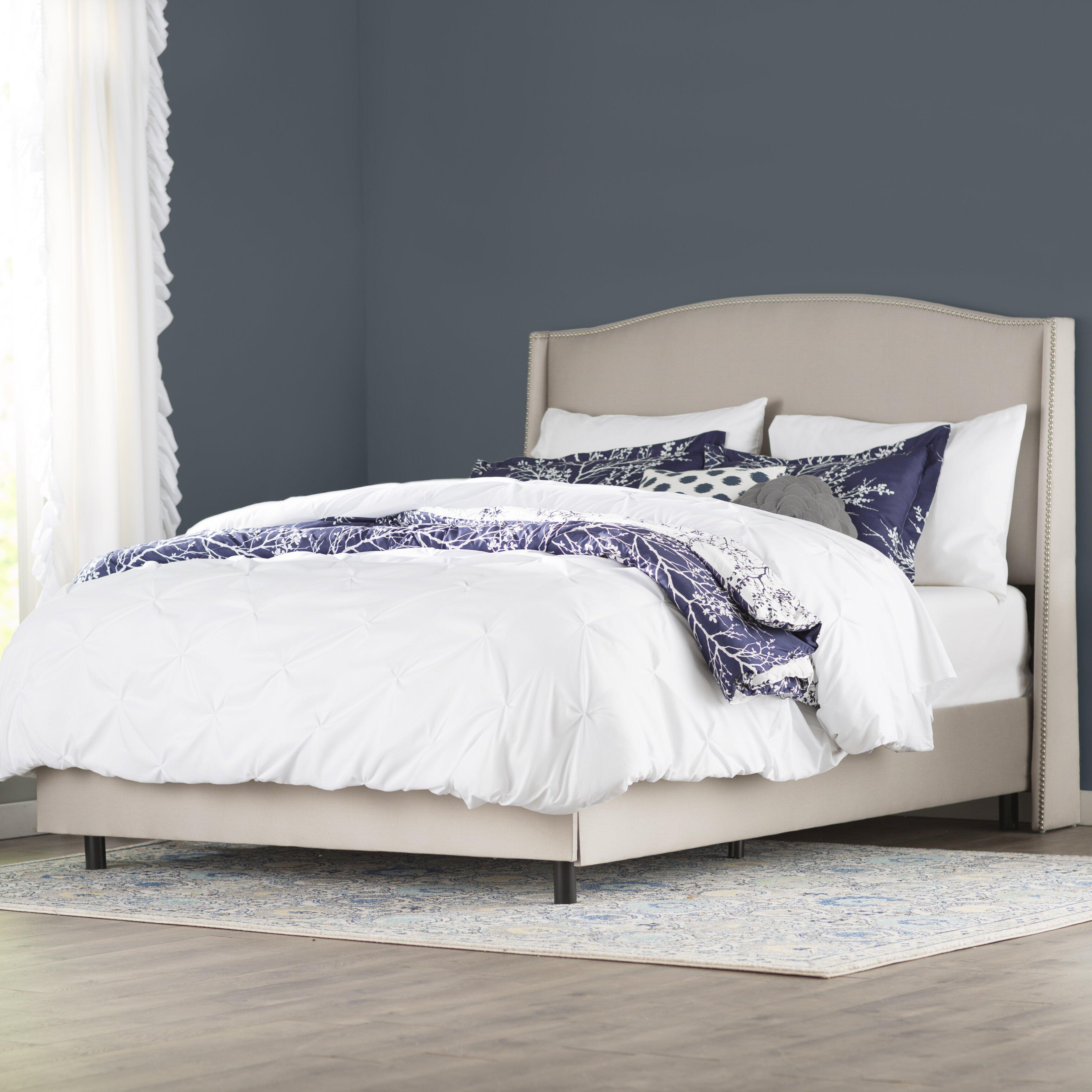 House of hampton brezina upholstered panel bed wayfair for Upholstered dog bed