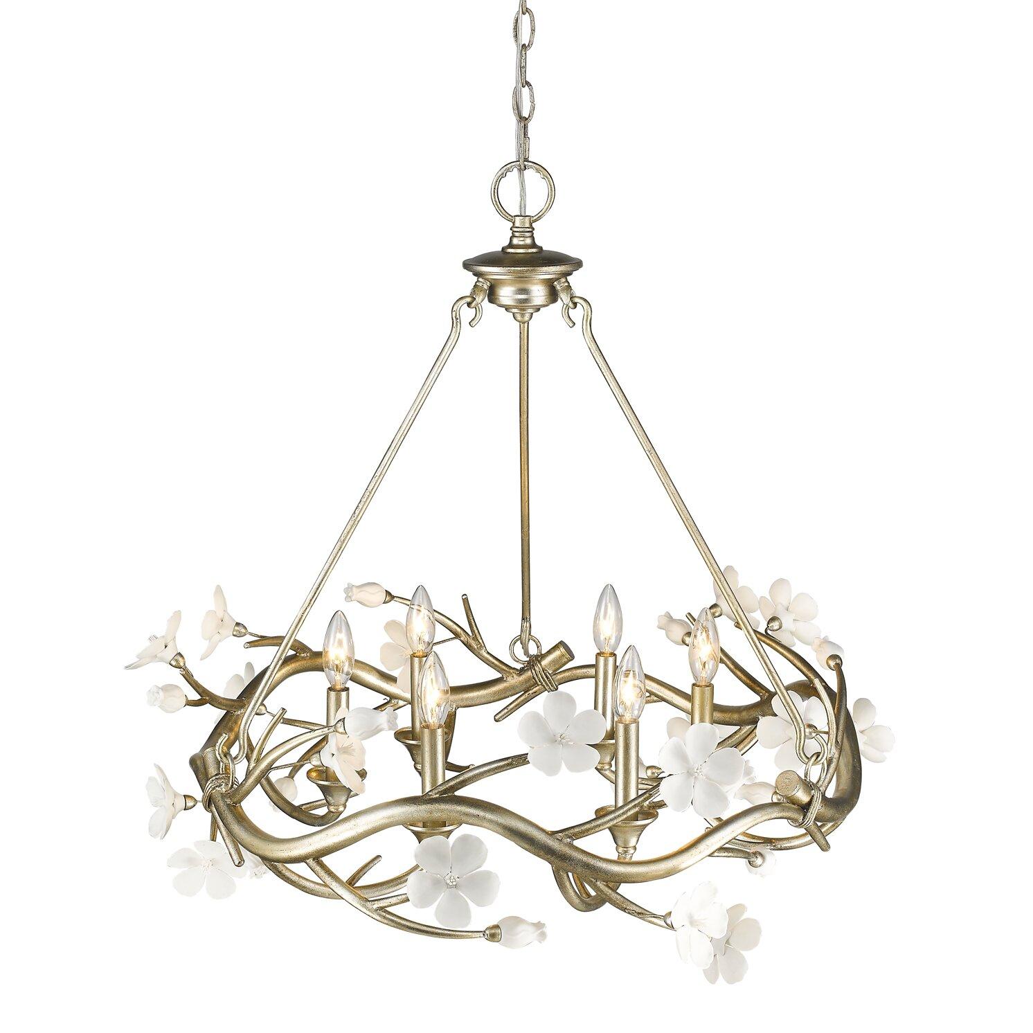 house of hton rosmeer 6 light candle style chandelier wayfair