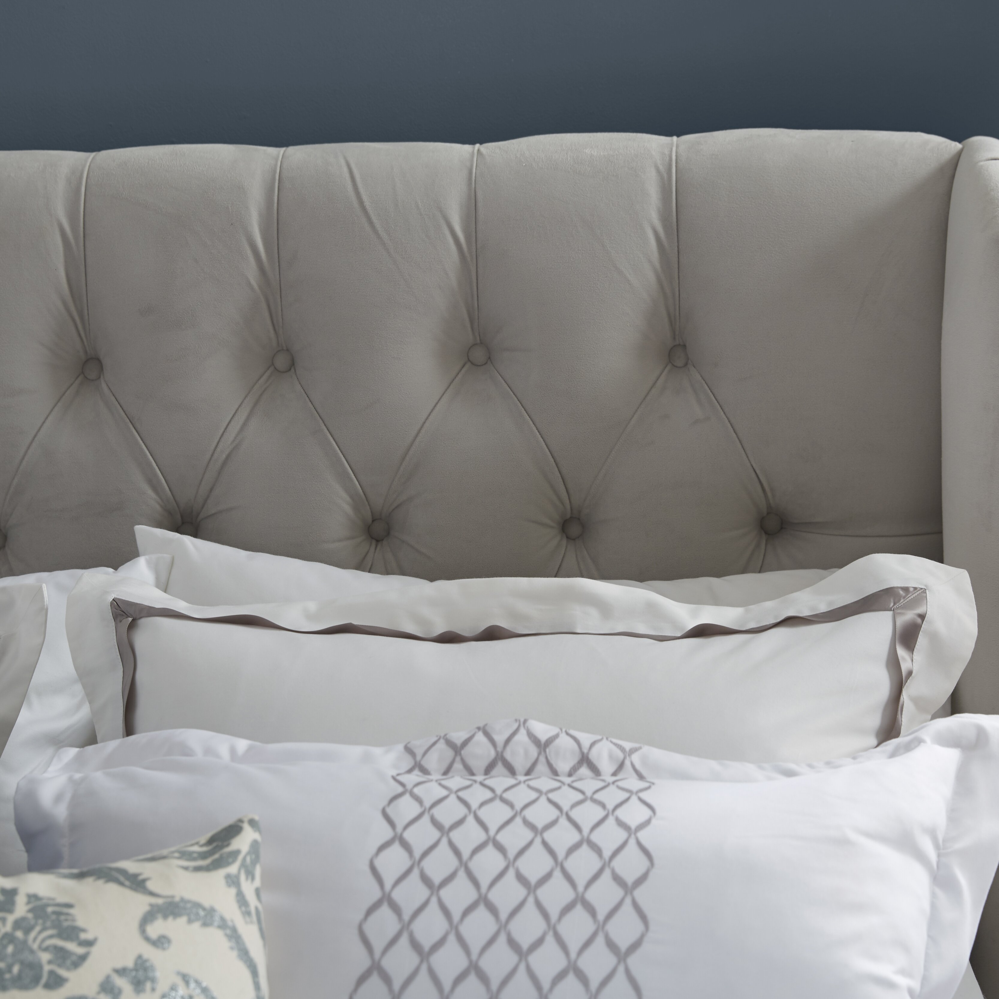House Of Hampton Upholstered Panel Bed Reviews Wayfair