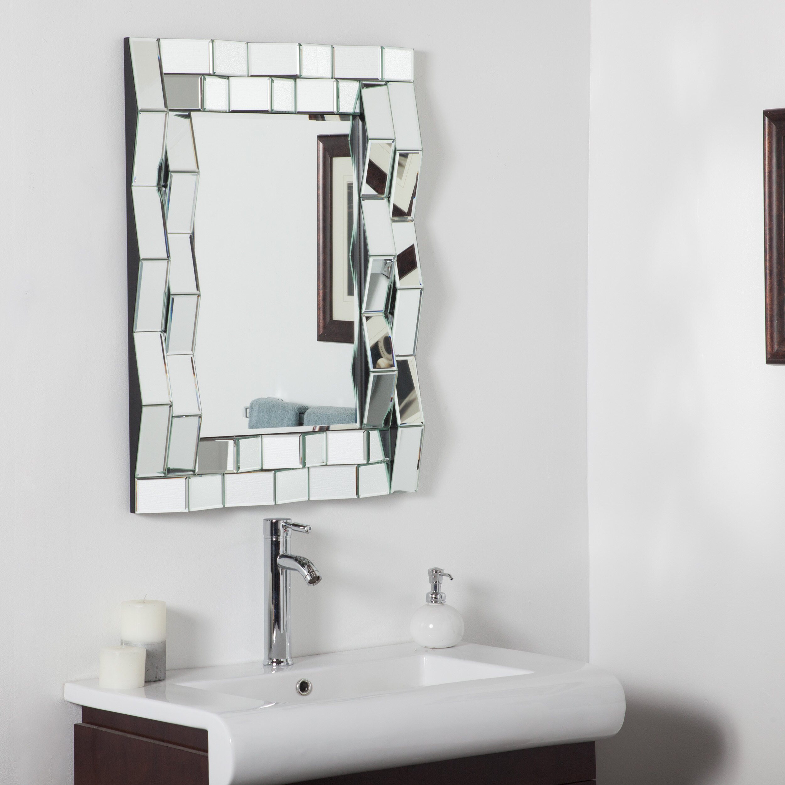 House of hampton alston wall mirror reviews wayfair - Modern vanity mirrors for bathroom ...
