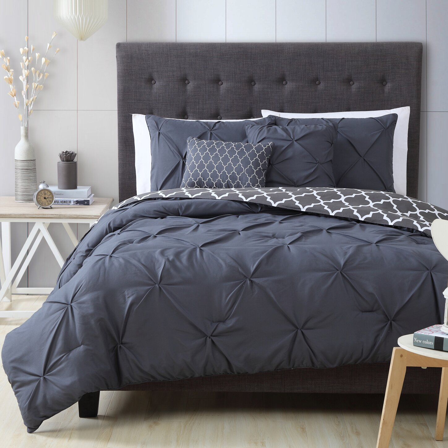 House Of Hampton Douglas 5 Piece Reversible Comforter Set