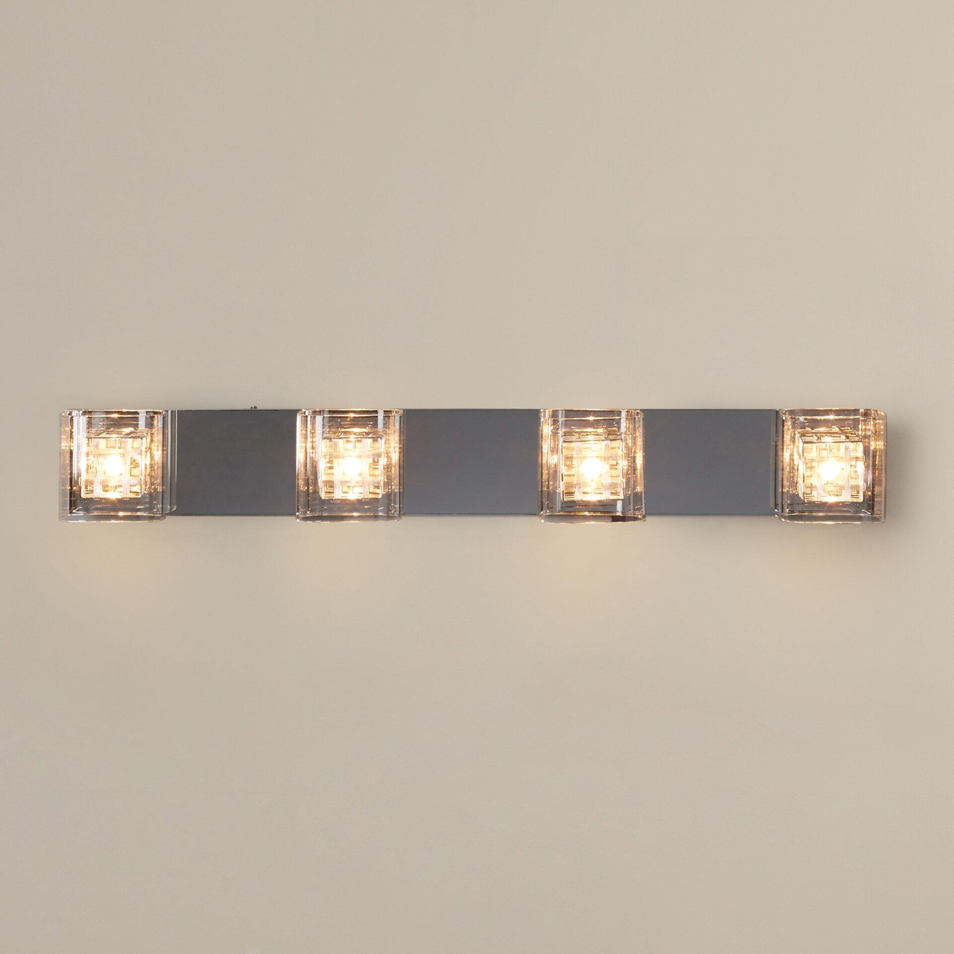 House of Hampton Flynn 4 Light Vanity Light & Reviews Wayfair