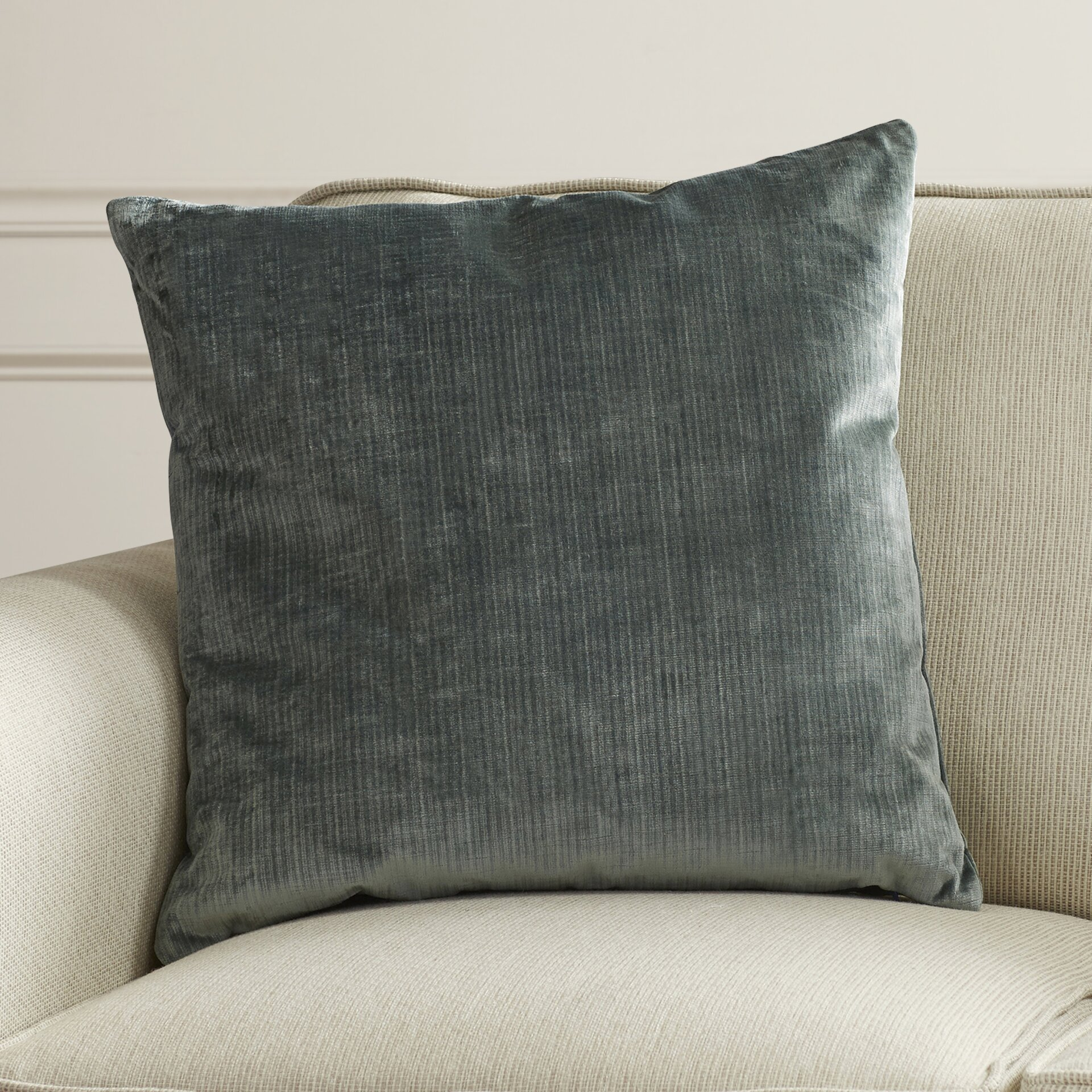 Throw Pillows Pictures : House of Hampton Ertvelde Plain Velvet Throw Pillow & Reviews Wayfair