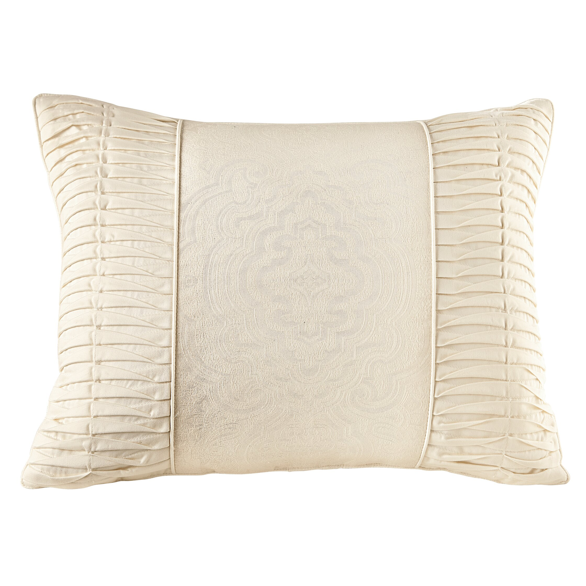 Jacquard Throw Pillows : House of Hampton Jagger Cotton Naturals Jacquard Throw Pillow & Reviews Wayfair