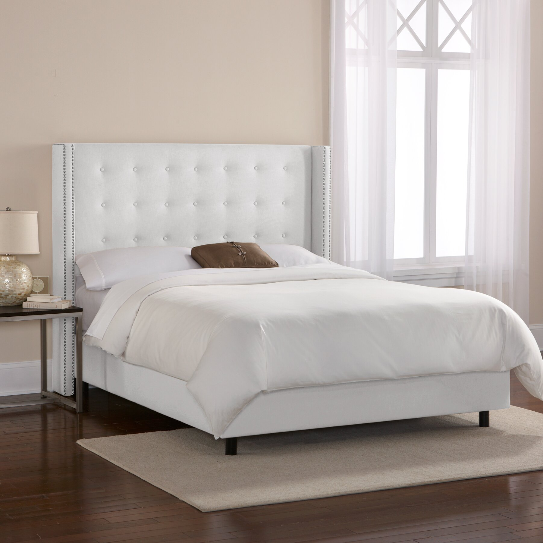 House of hampton hayworth tufted linen upholstered for Different headboards