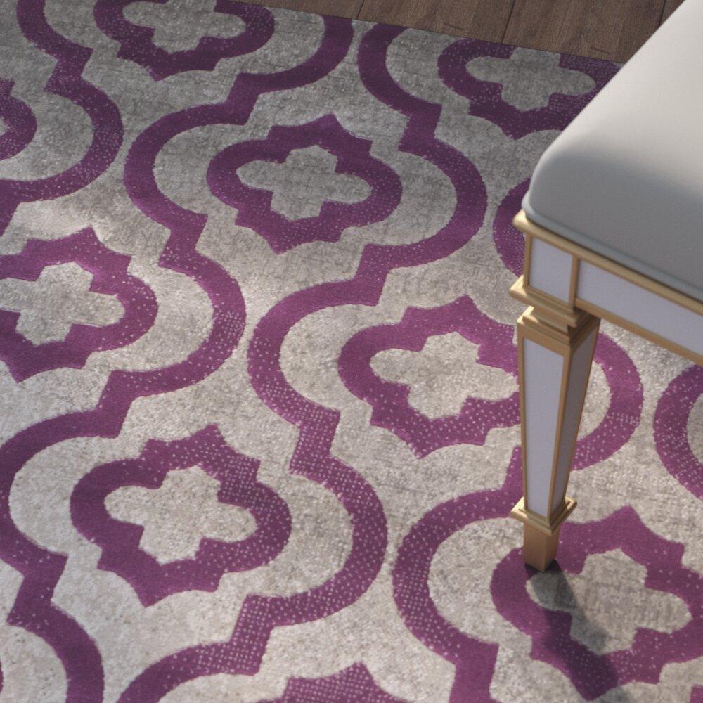 Purple And Gray Area Rugs: House Of Hampton Krenwik Light Gray/Purple Area Rug