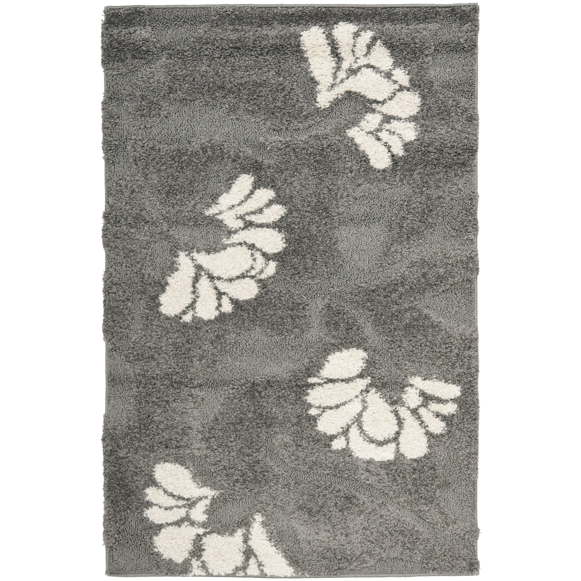 House of hampton flanery dark grey beige area rug for Grey and tan rug