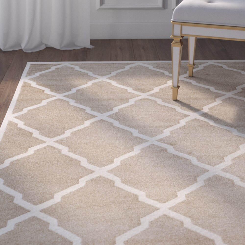 House Of Hampton Levon Wheat/Beige Indoor/Outdoor Area Rug