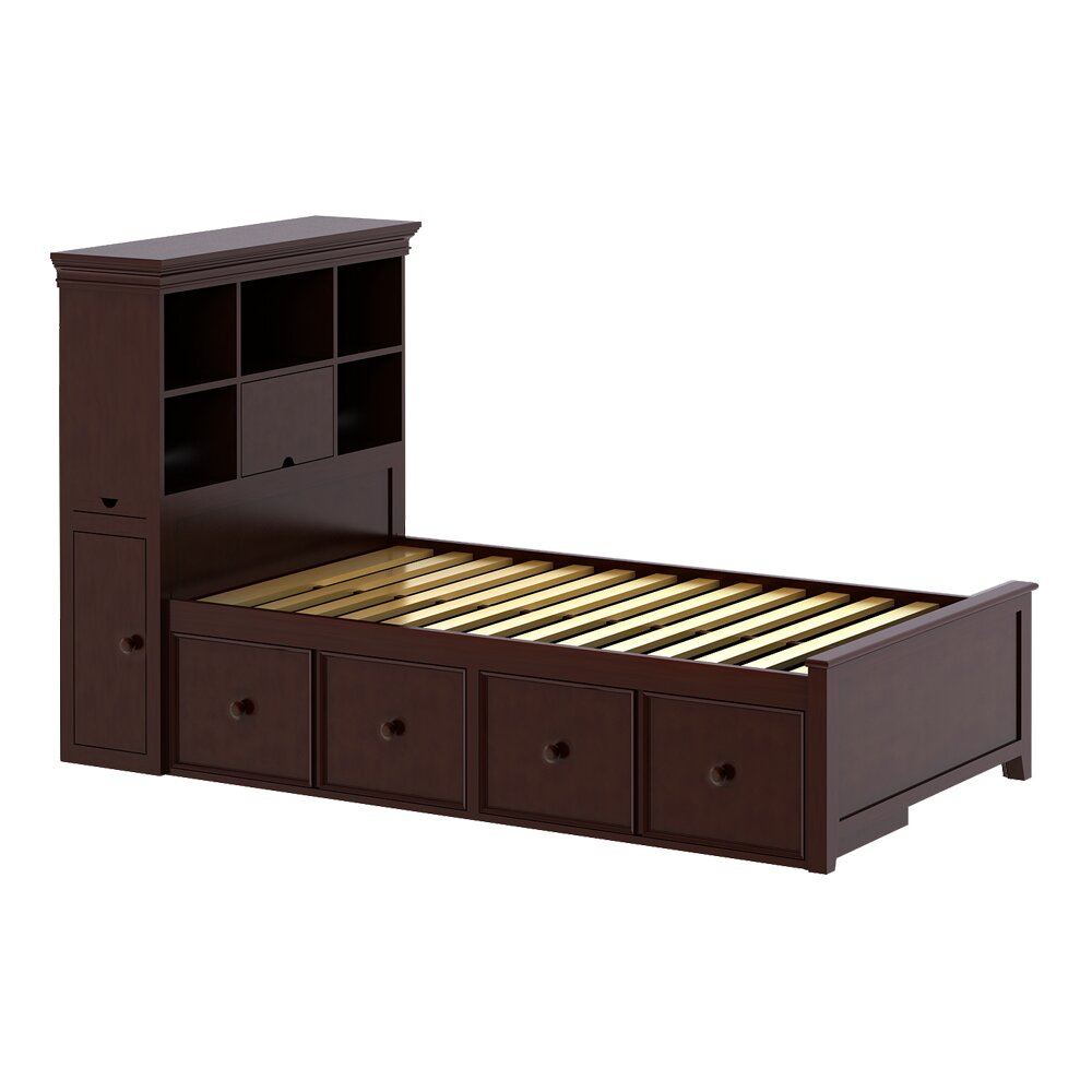Craft kids furniture boston twin panel bed with storage for Panel beds for sale