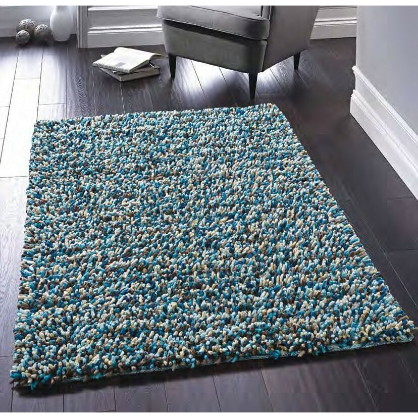 Throw Rugs Secure: Origins Rock Hand-Woven Blue Area Rug & Reviews