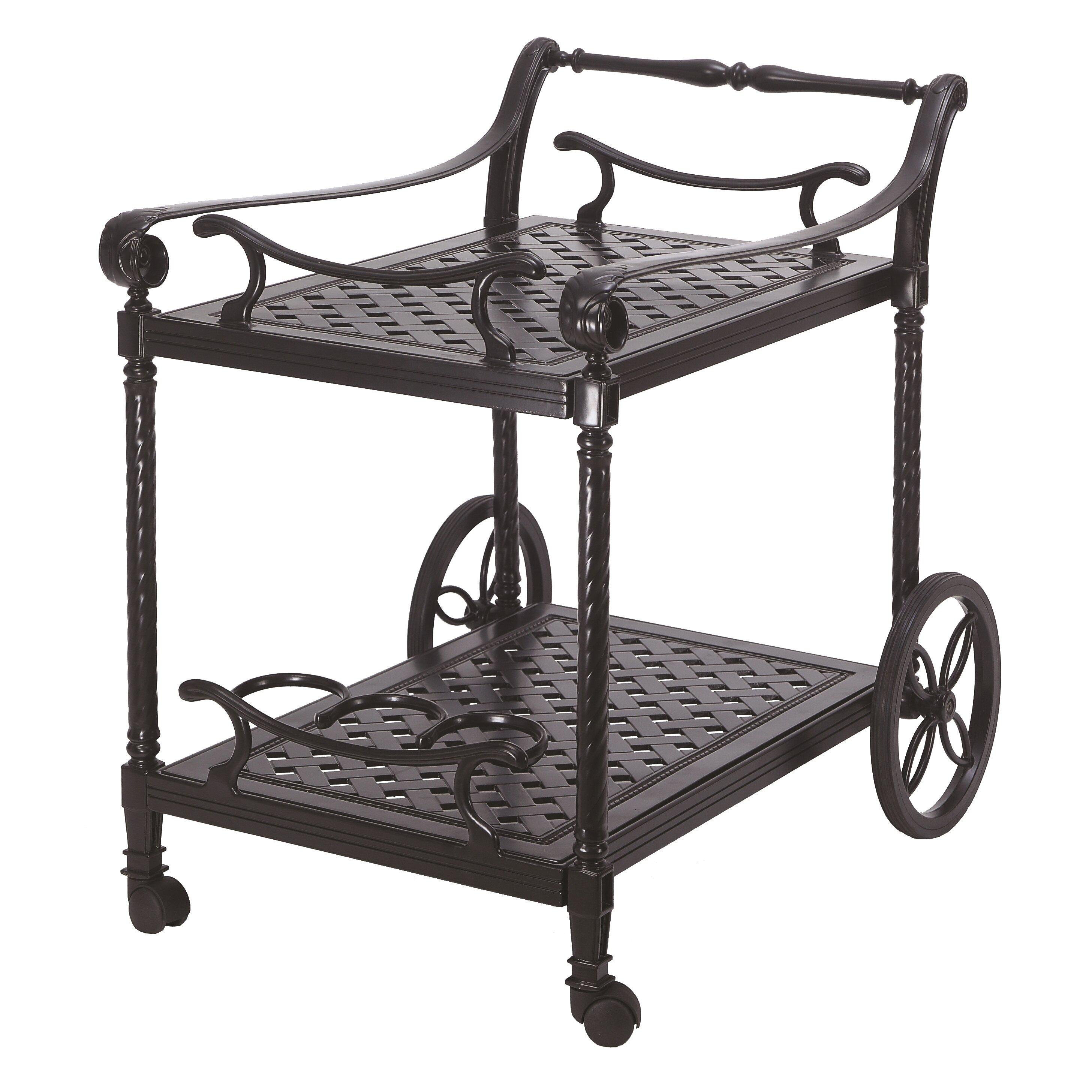 Gensun Casual Grand Terrace Serving Cart   Wayfair