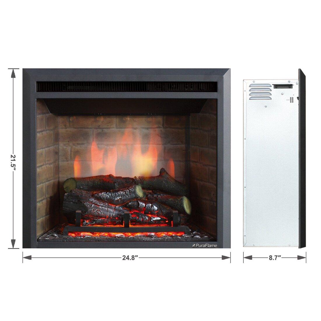 Puraflame 33 Black 750 1500w Western Electric Fireplace Insert Reviews Wayfair
