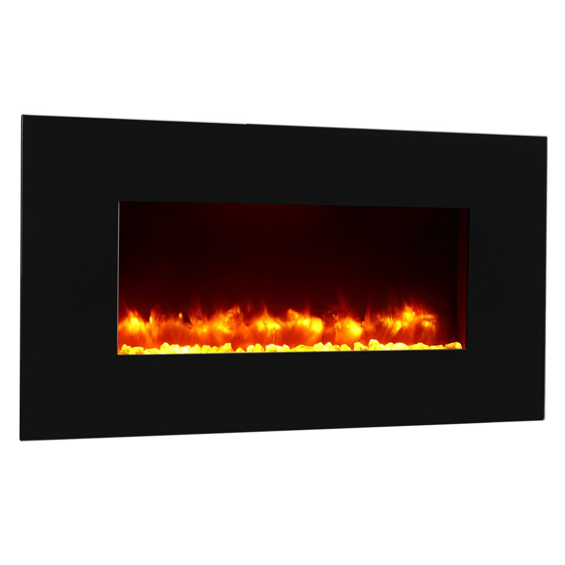 Puraflame Remote Control Wall Mount Electric Fireplace Reviews Wayfair