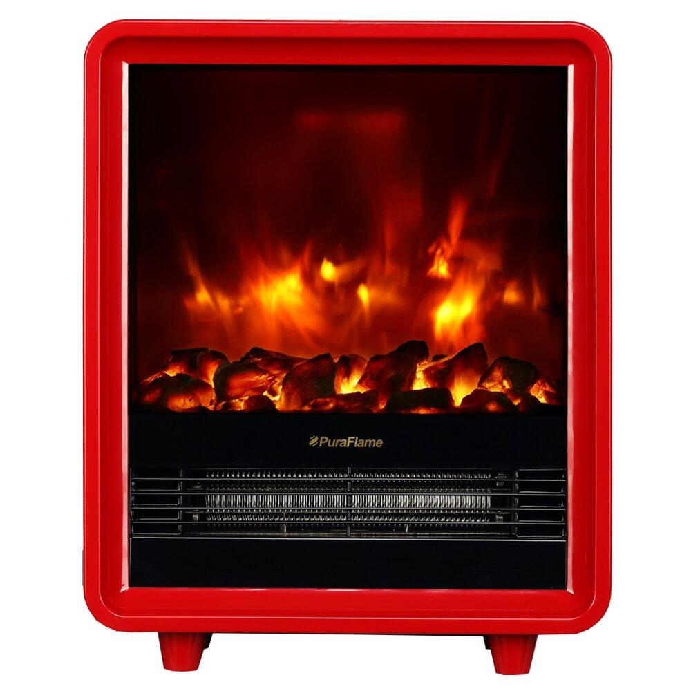 puraflame 12 red 1500w octavia portable electric. Black Bedroom Furniture Sets. Home Design Ideas