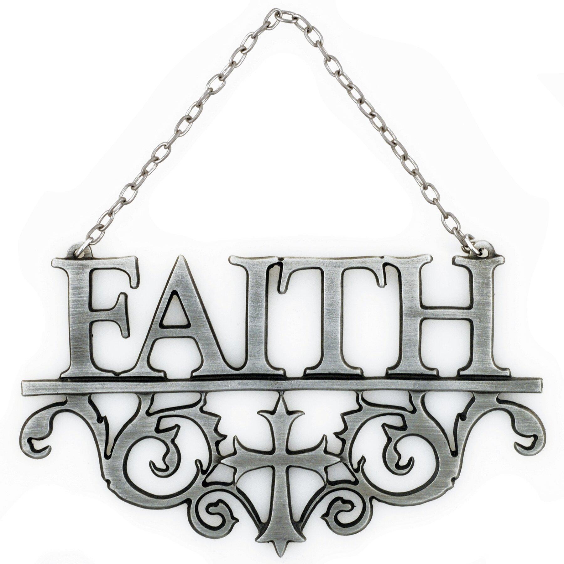 Bobsiemondesigns faith wall d cor reviews wayfair for Faith decor