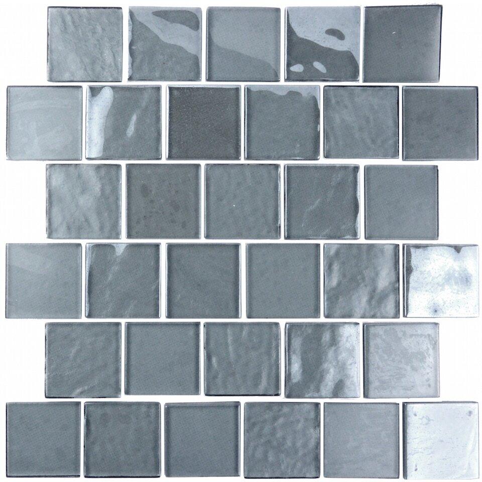 Abolos Landscape 2 Quot X 2 Quot Glass Mosaic Tile In Blue Gray