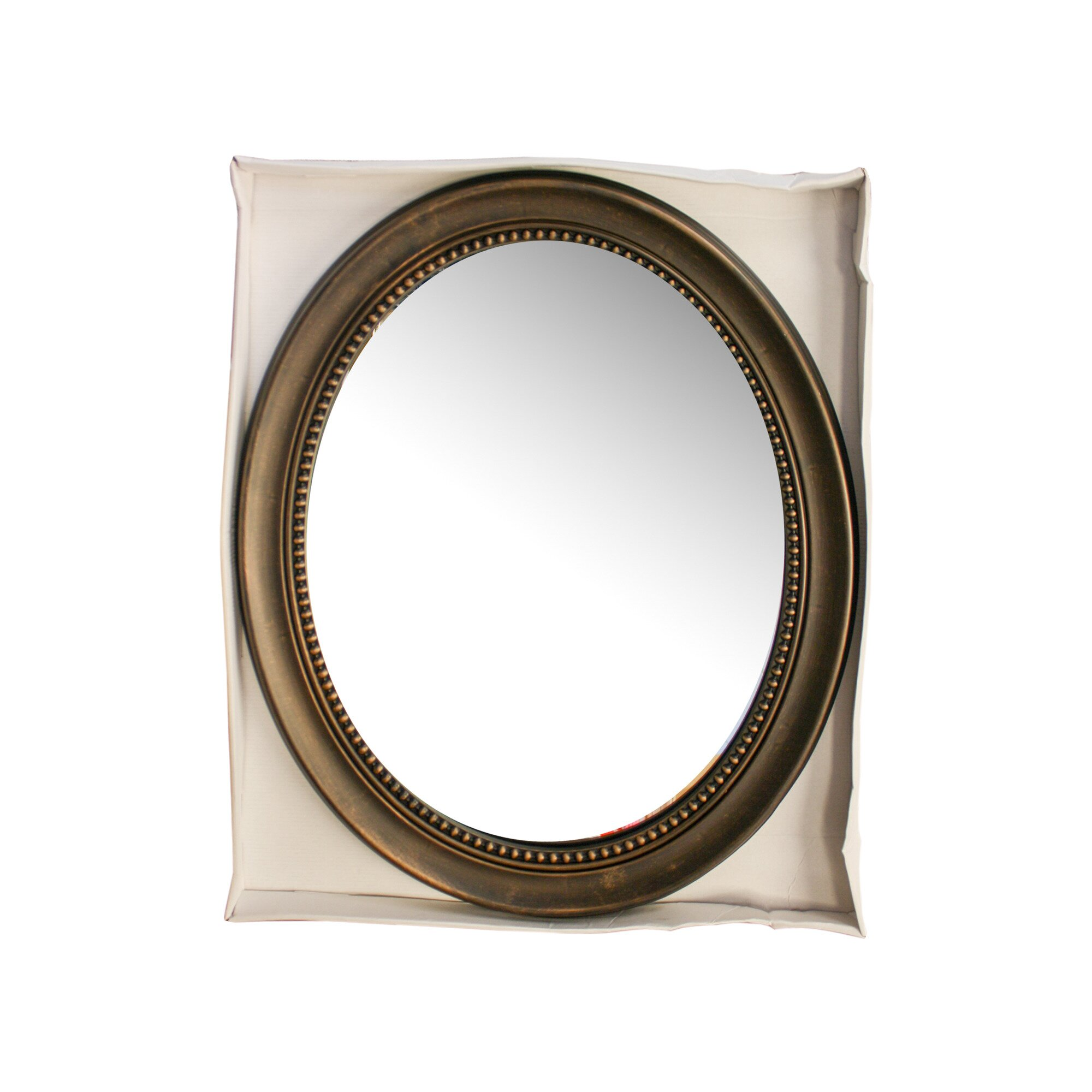 Koleimports antique bronze framed oval mirror reviews wayfair for Bronze framed bathroom mirror