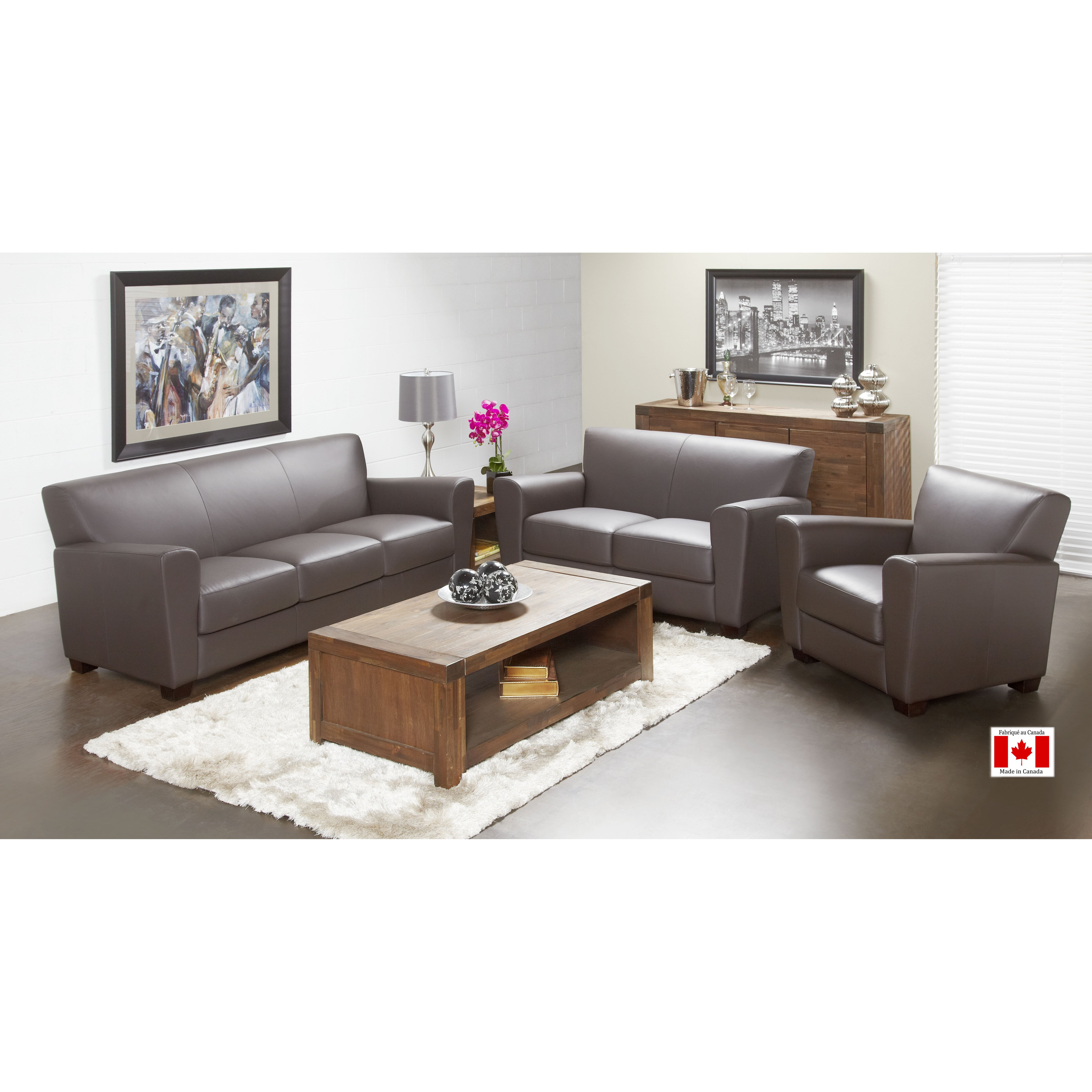 Lind Furniture Cameo Top Grain Leather Sofa & Reviews  Wayfair