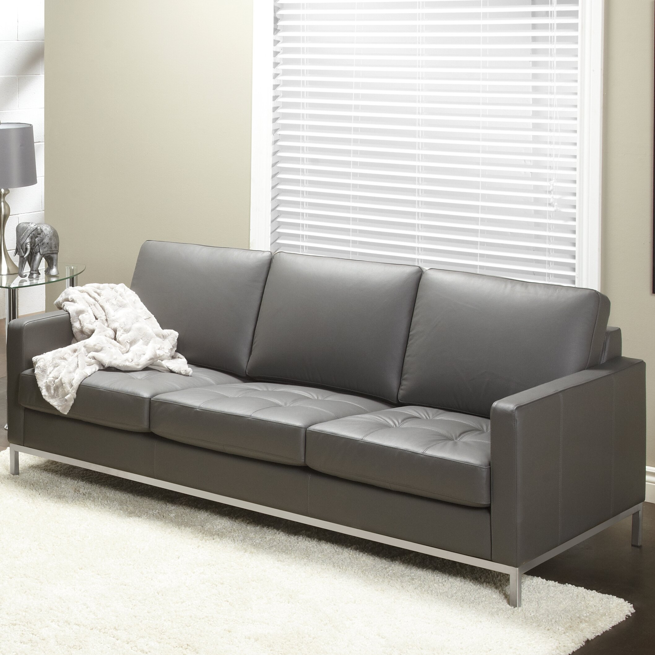 Leather Sofas Reviews: Lind Furniture Regency Top Grain Leather Sofa & Reviews