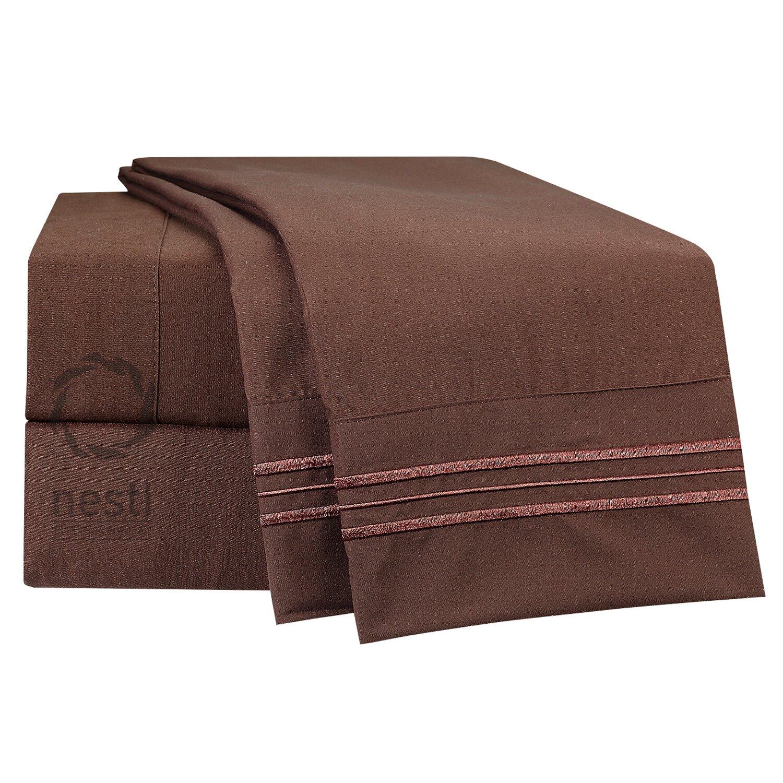 nestl bedding 1800 thread count nighthawk bed sheet set reviews wayfair. Black Bedroom Furniture Sets. Home Design Ideas