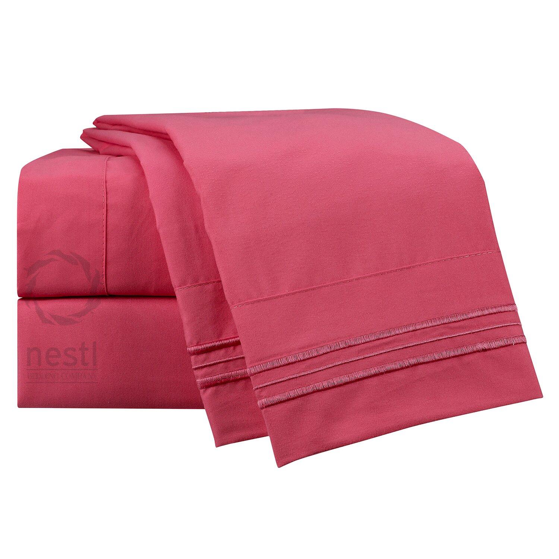 nestl bedding 1800 thread count flamingo bed sheet set reviews wayfair. Black Bedroom Furniture Sets. Home Design Ideas