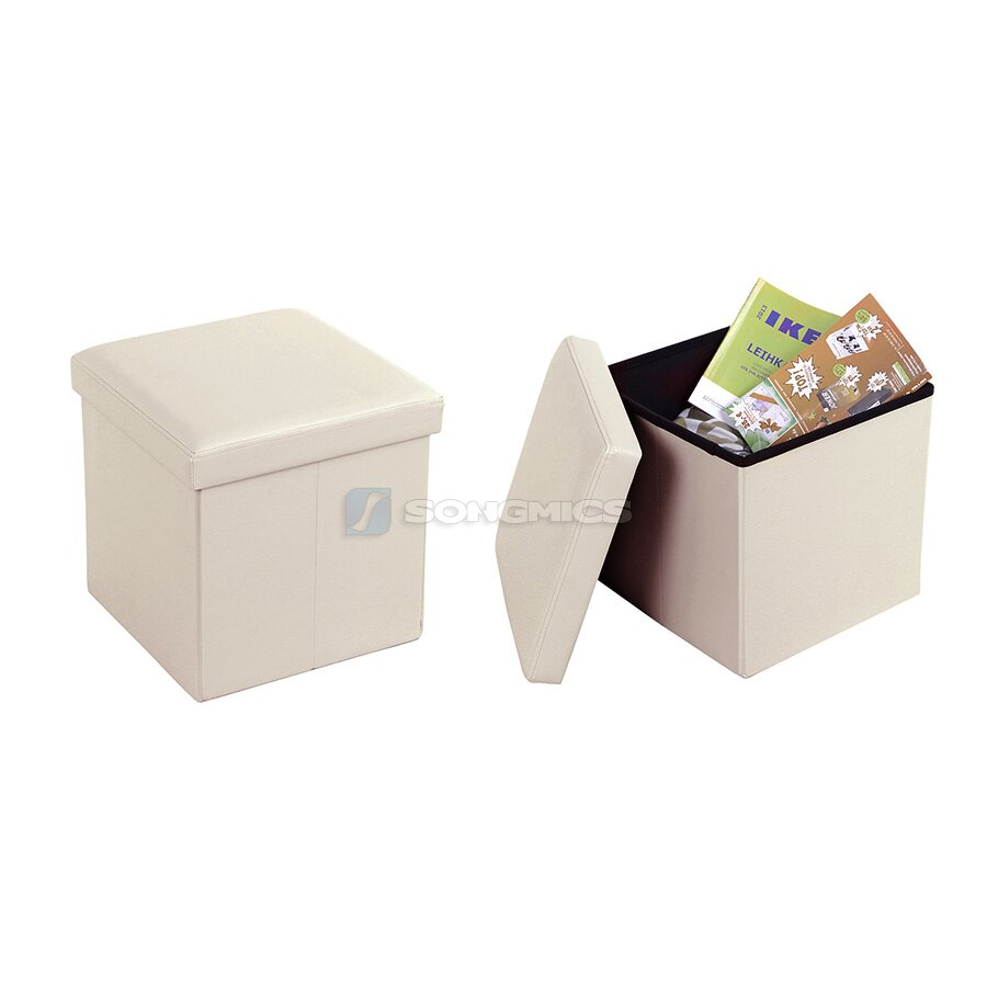 Songmics Cube Folding Storage Ottoman Reviews Wayfair