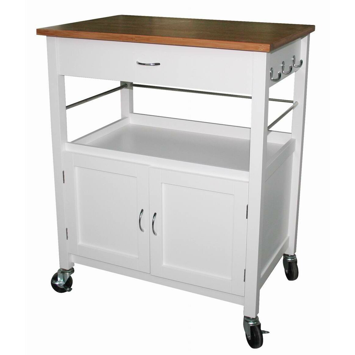 Ehemco Kitchen Island Cart With Natural Butcher Block