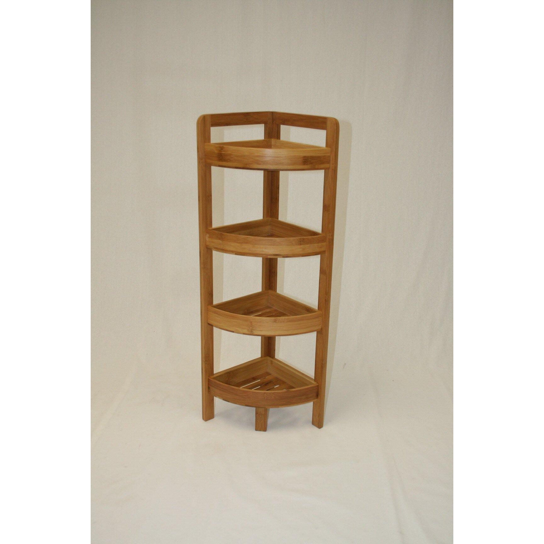 Ehemco 4 Tier Bamboo Corner Shelf Amp Reviews Wayfair Ca