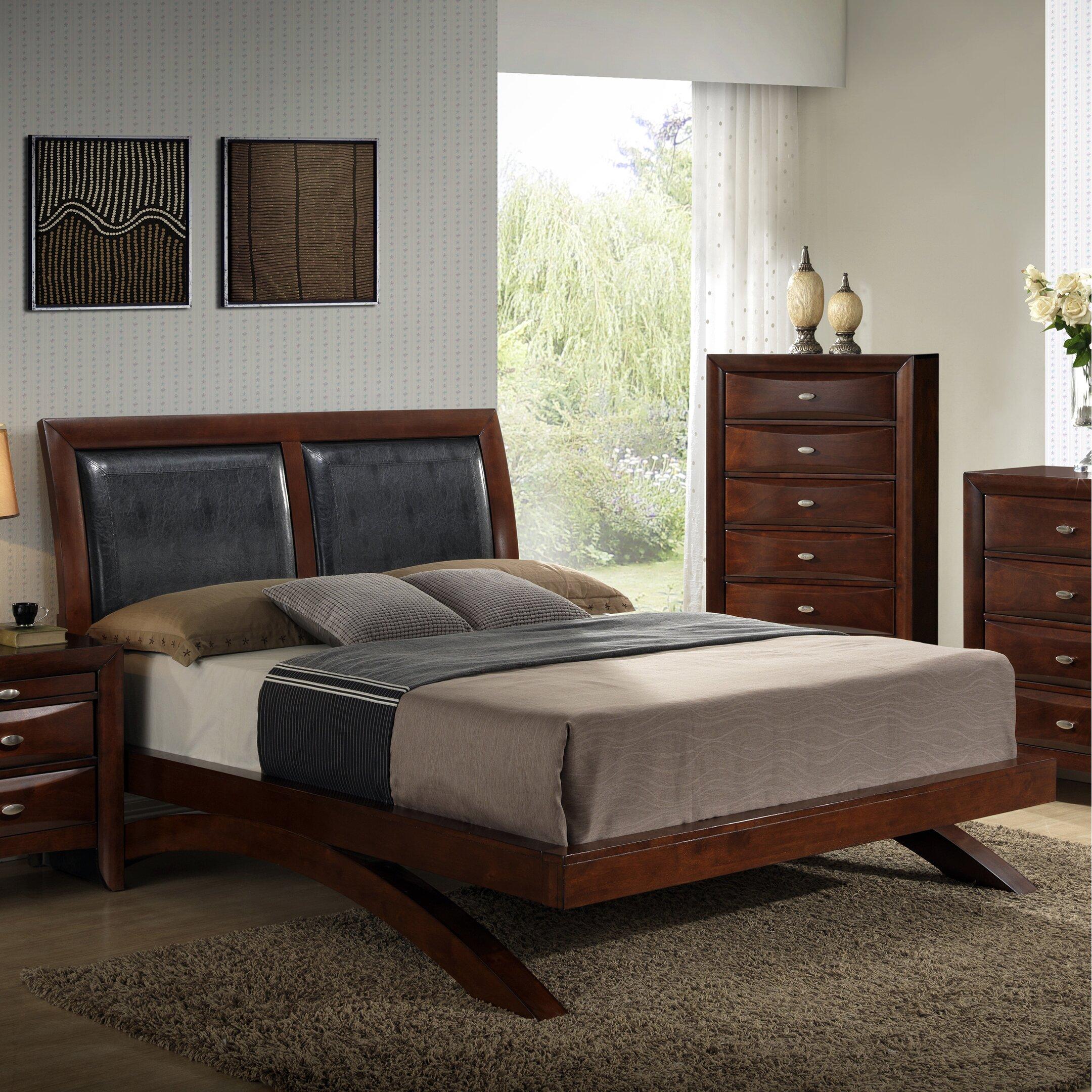 roundhill furniture emily upholstered storage platform bed wayfair. Black Bedroom Furniture Sets. Home Design Ideas