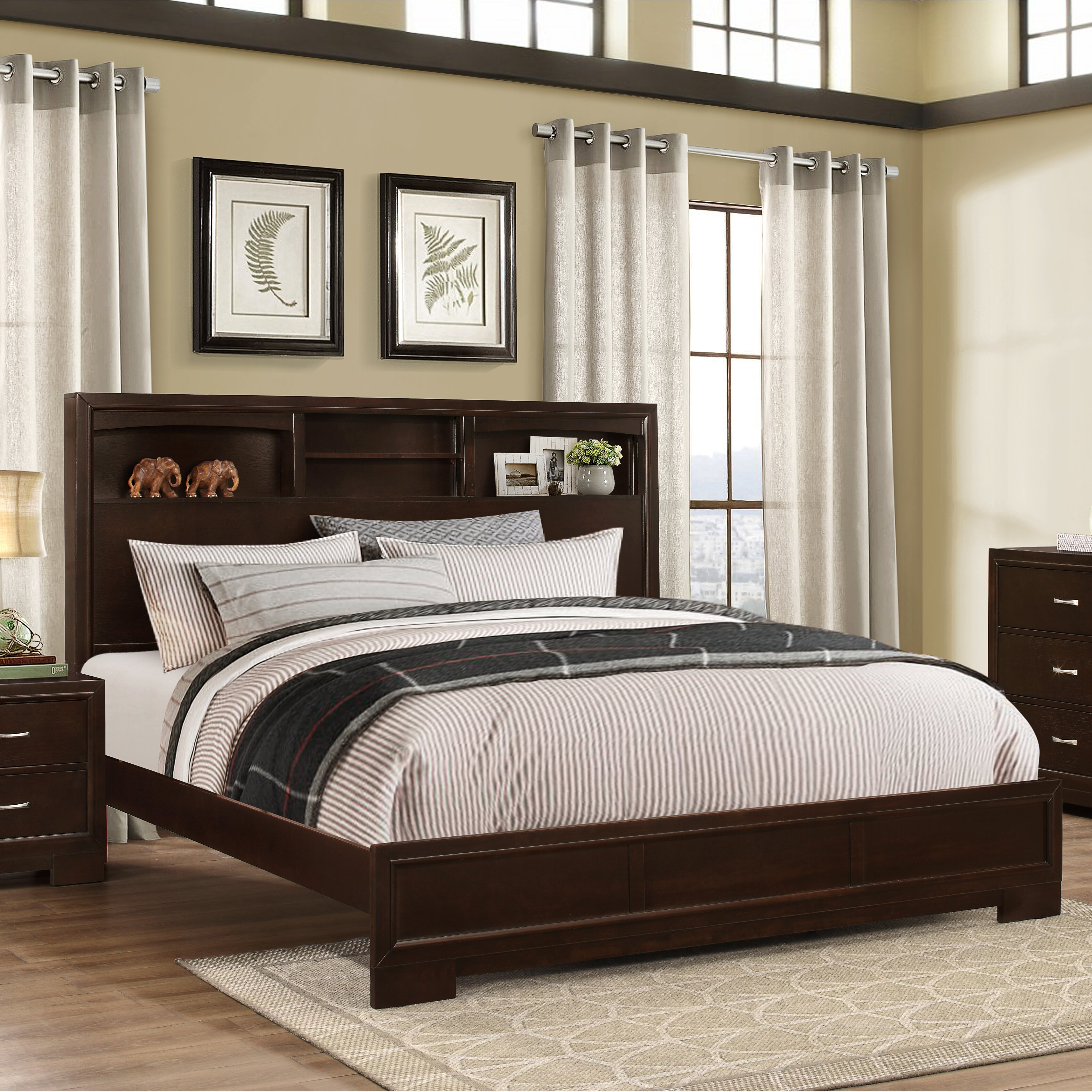 Roundhill Furniture Montana Panel 5 Piece Bedroom Set Reviews Wayfair