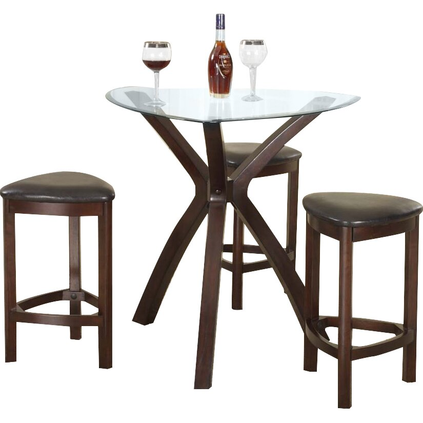 Roundhill Furniture 4 Piece Counter Height Pub Table Set Reviews Wayf