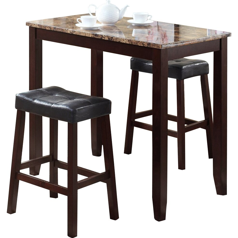 roundhill furniture 3 piece counter height pub table set reviews. Black Bedroom Furniture Sets. Home Design Ideas