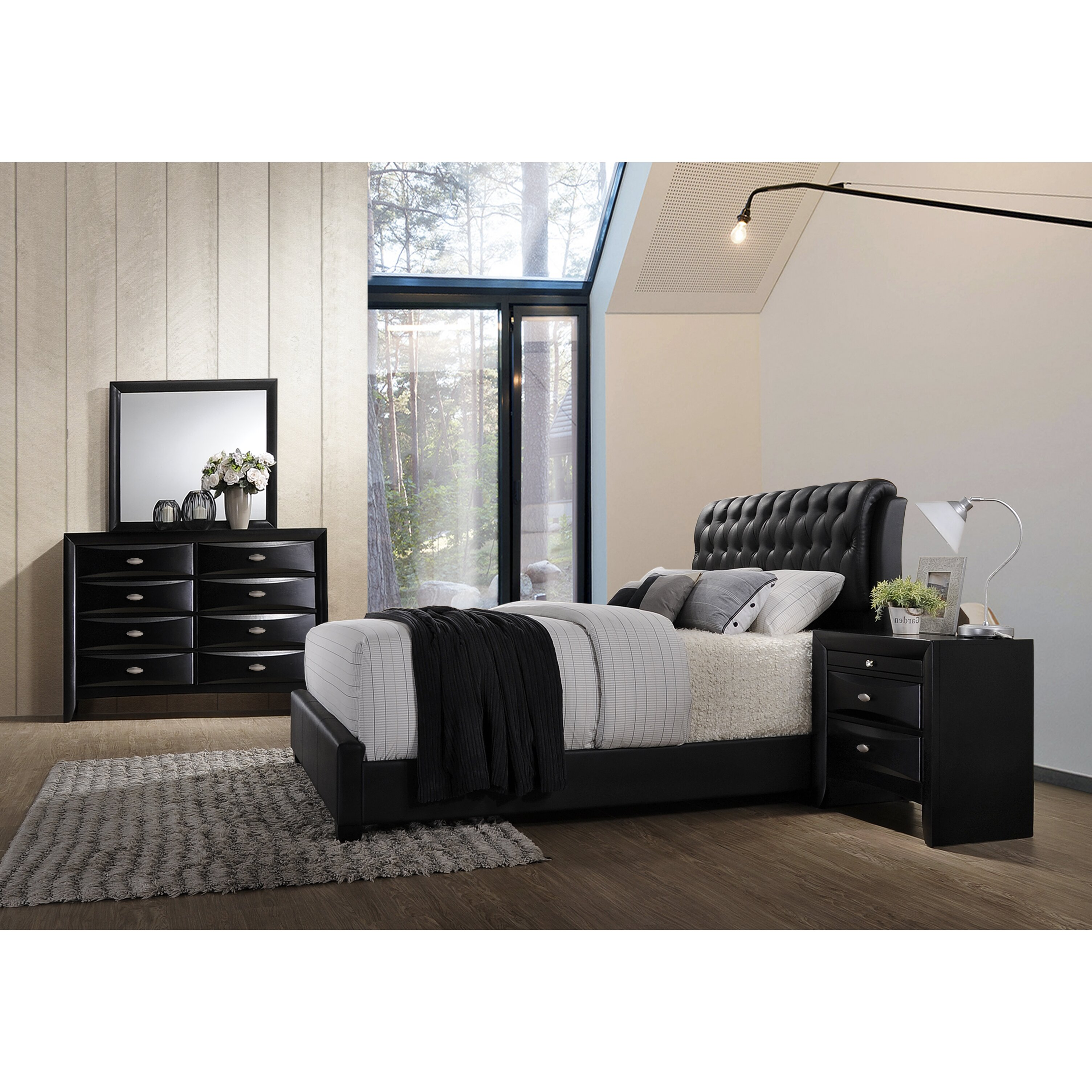 Roundhill Furniture Blemerey 4 Piece Bedroom Set Wayfair