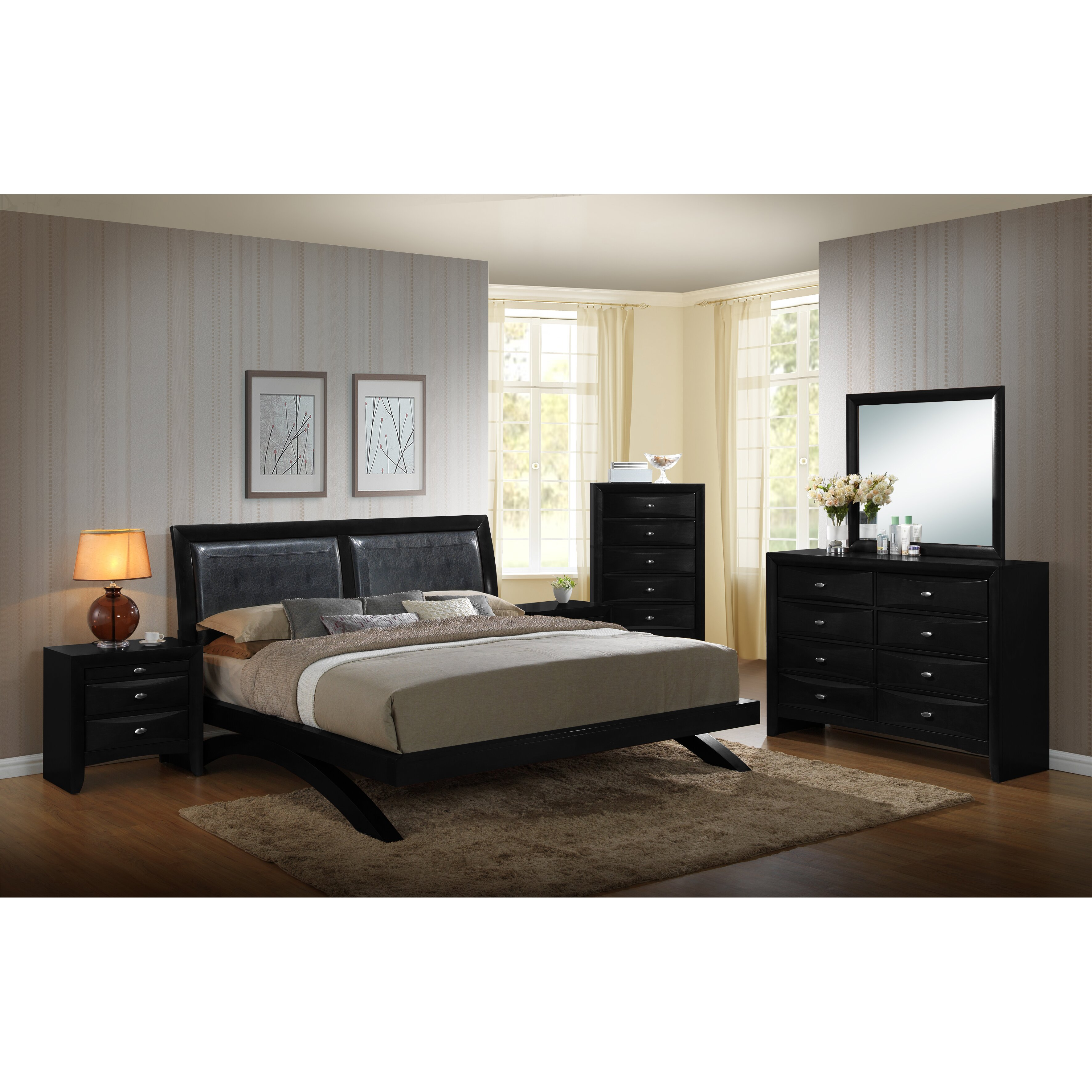 Roundhill Furniture Blemerey 6 Piece Platform Bedroom Set Wayfair