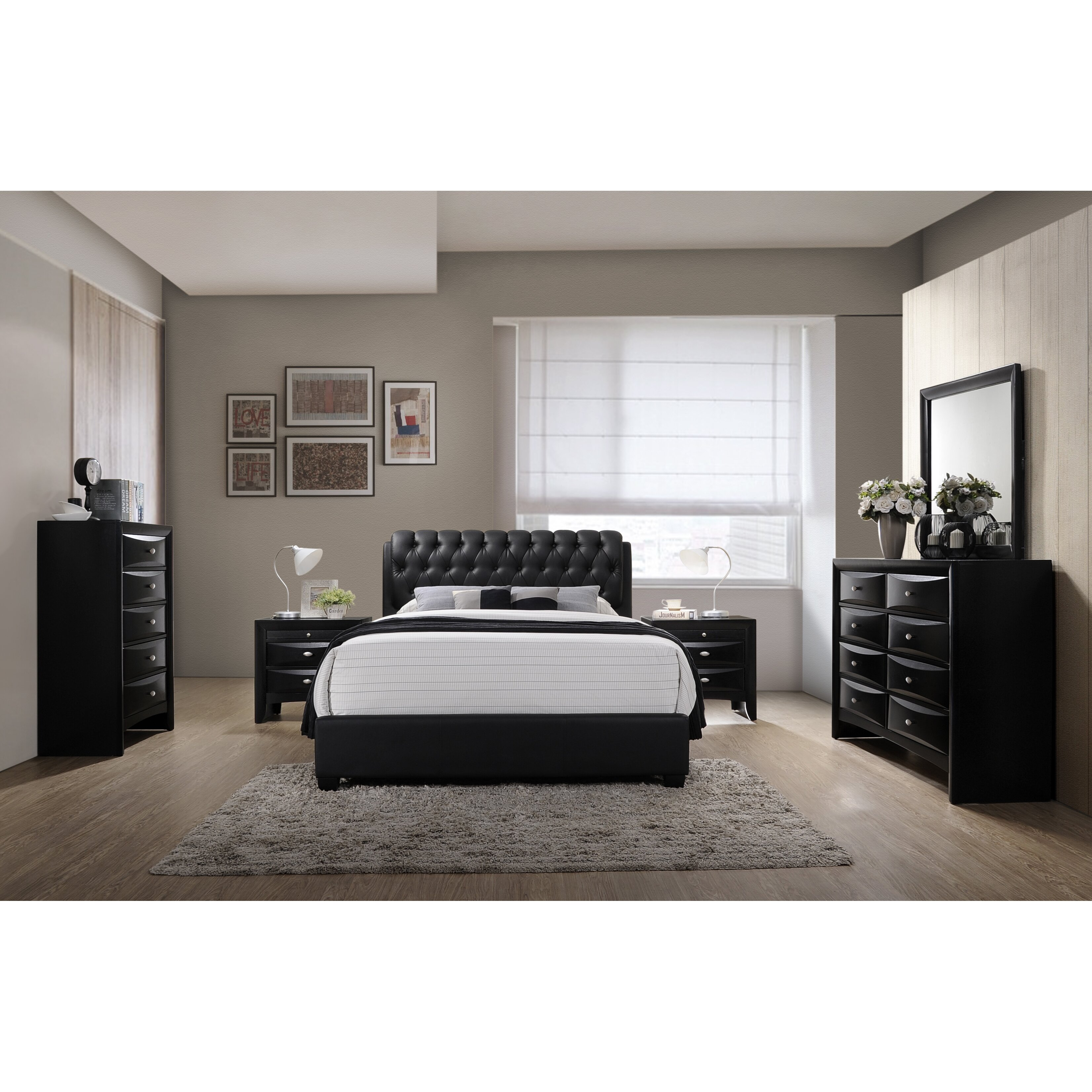 Roundhill Furniture Blemerey 6 Piece Bedroom Set Wayfair