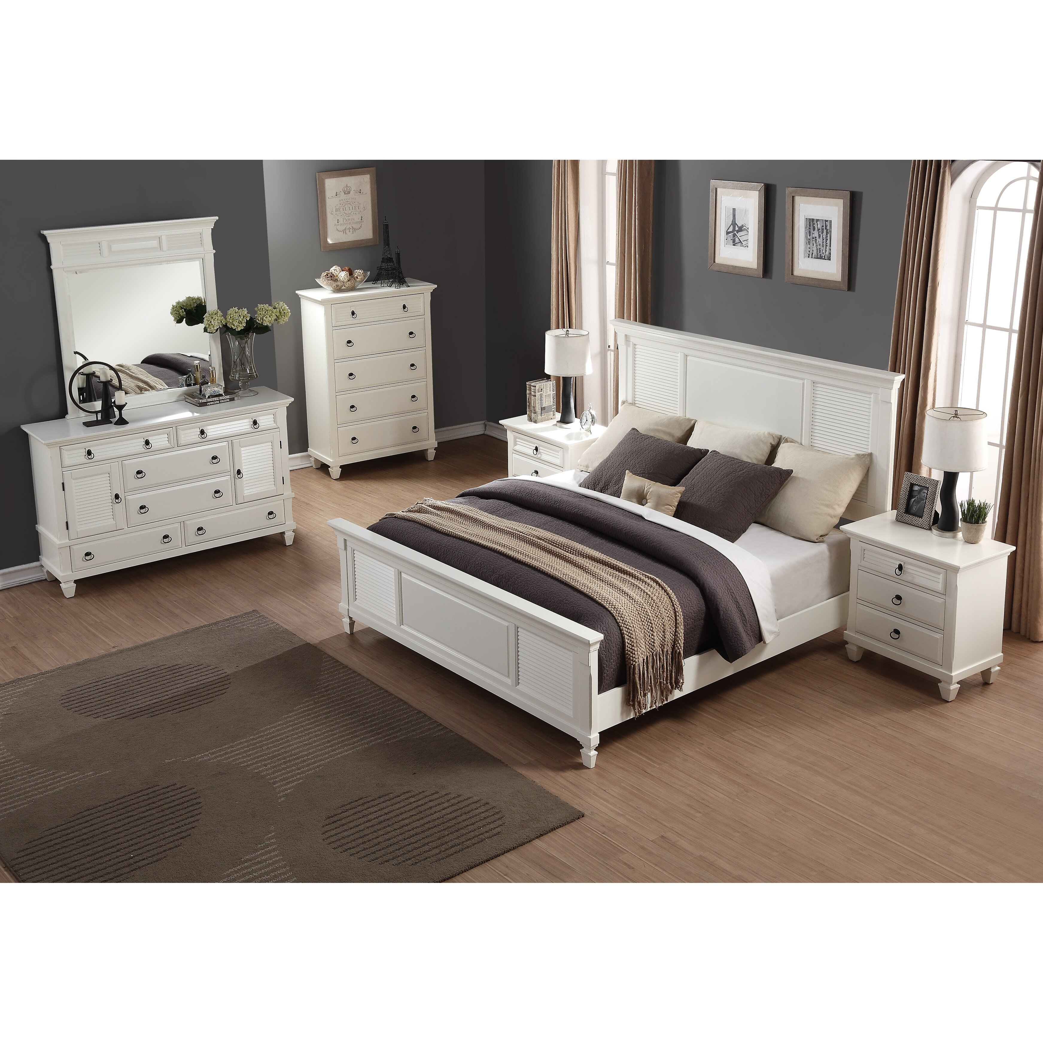 Roundhill Furniture Regitina Panel 5 Piece Bedroom Set Wayfair