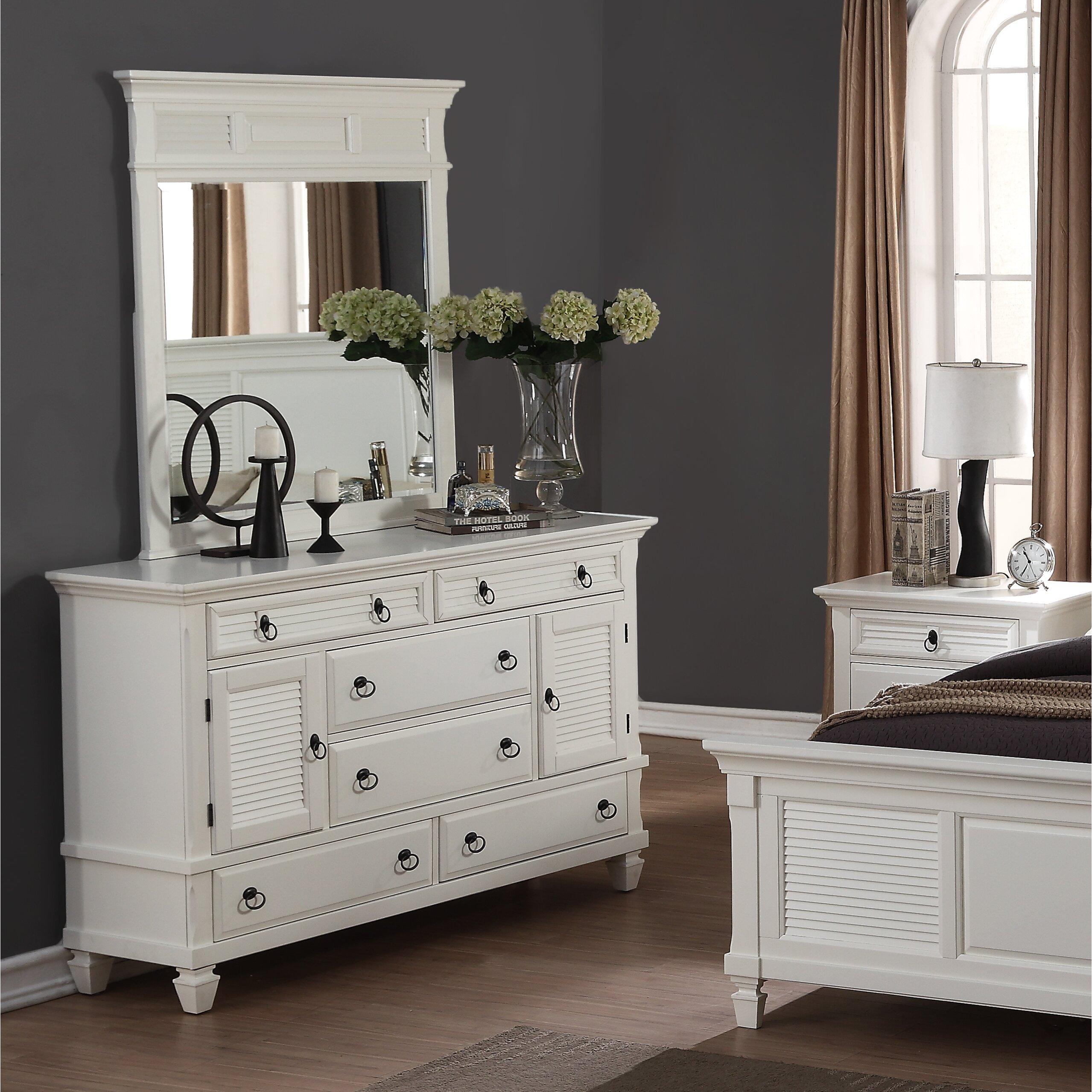 Roundhill Furniture Regitina Panel 6 Piece Bedroom Set ...