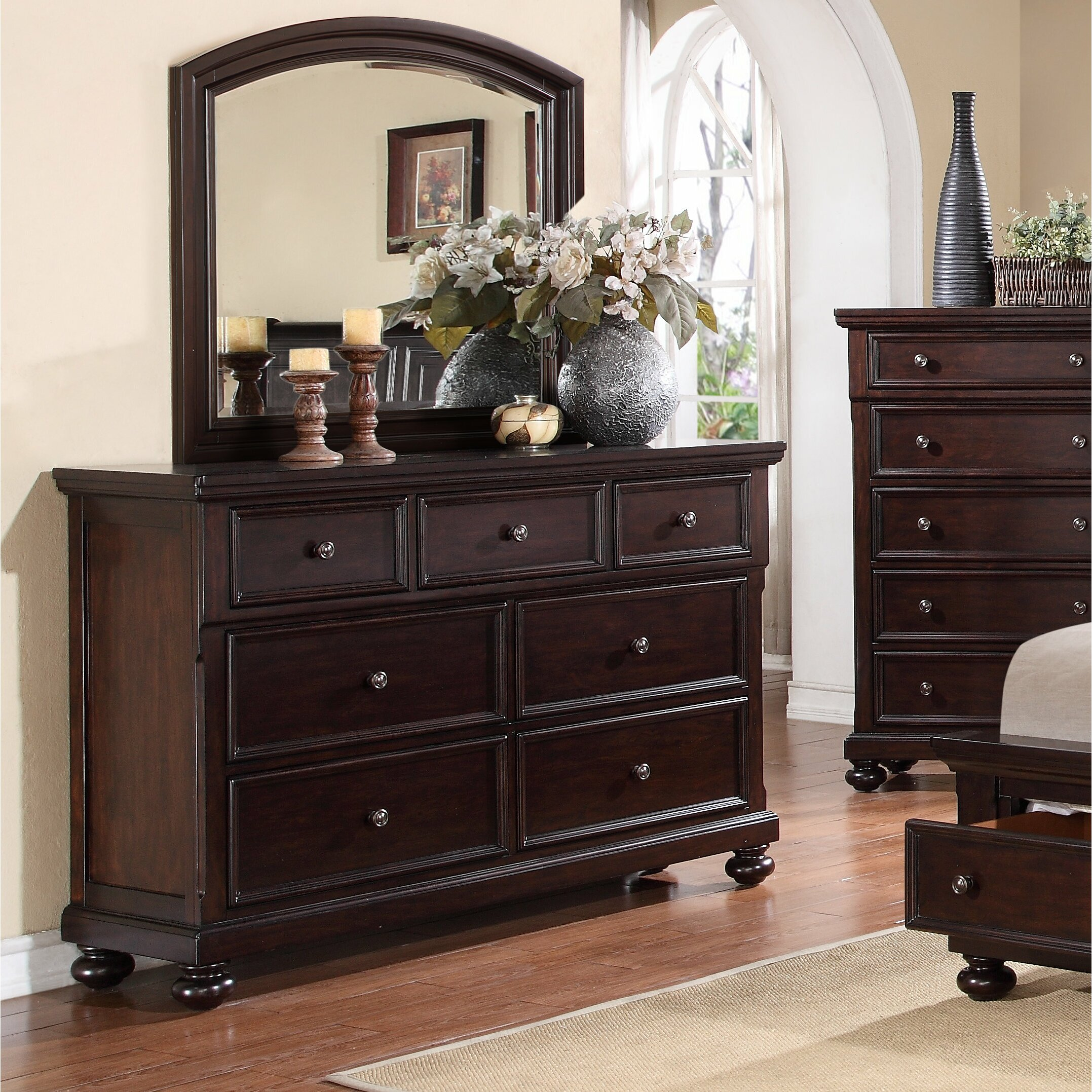 Roundhill Furniture Brishland Platform 5 Piece Bedroom Set