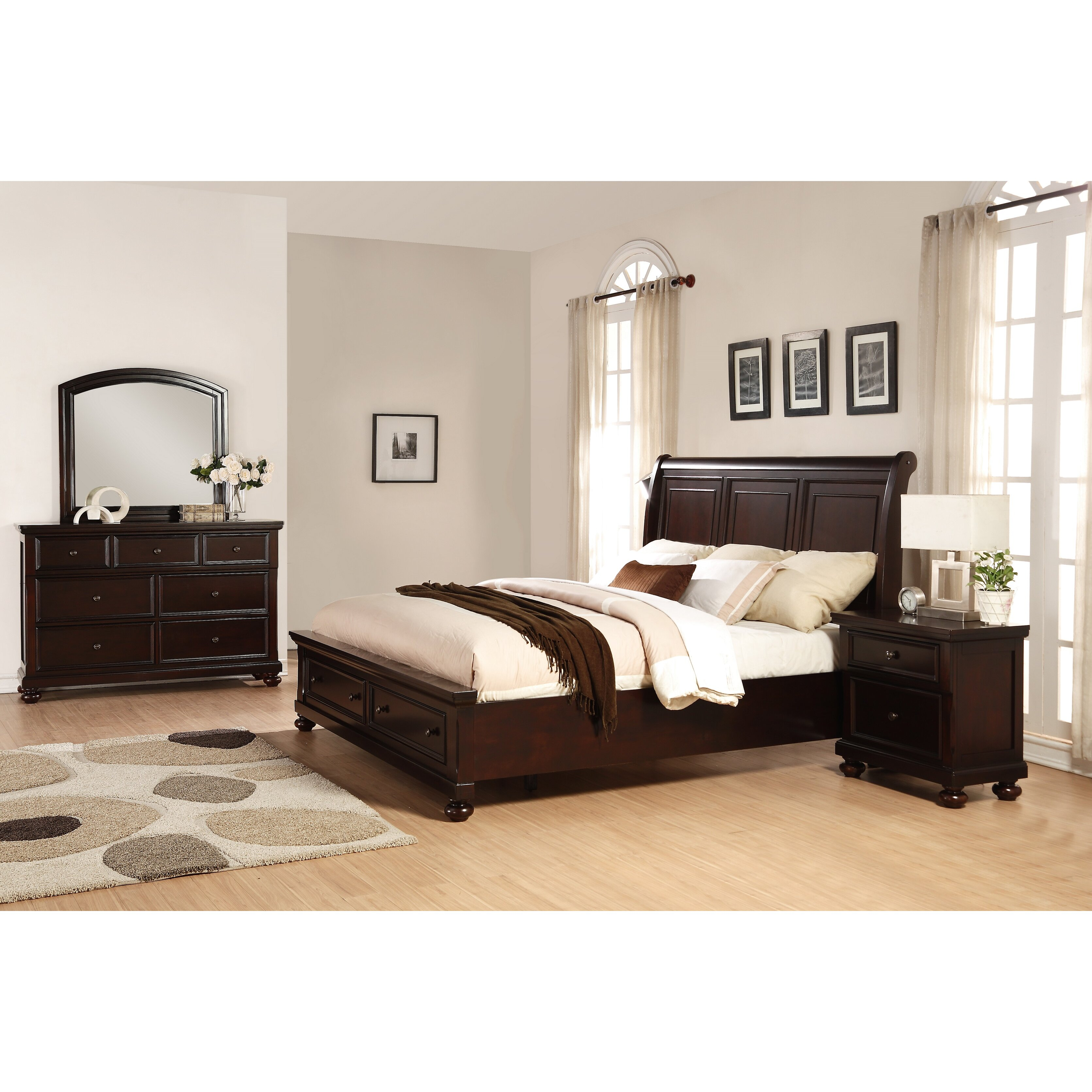Roundhill Furniture Brishland Platform 4 Piece Bedroom Set Wayfair