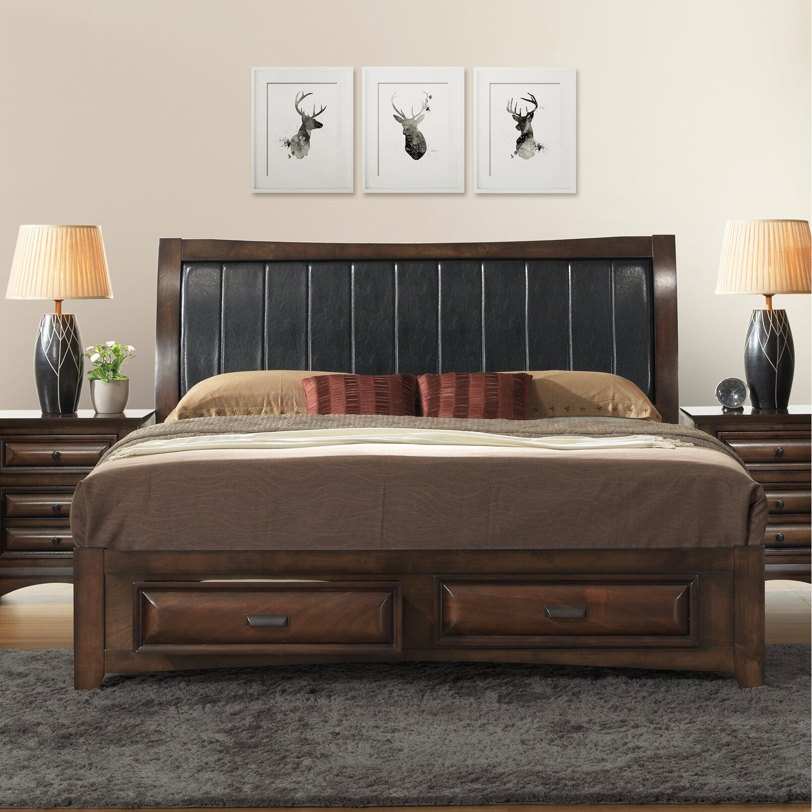Roundhill Furniture Broval Panel 5 Piece Bedroom Set Wayfair