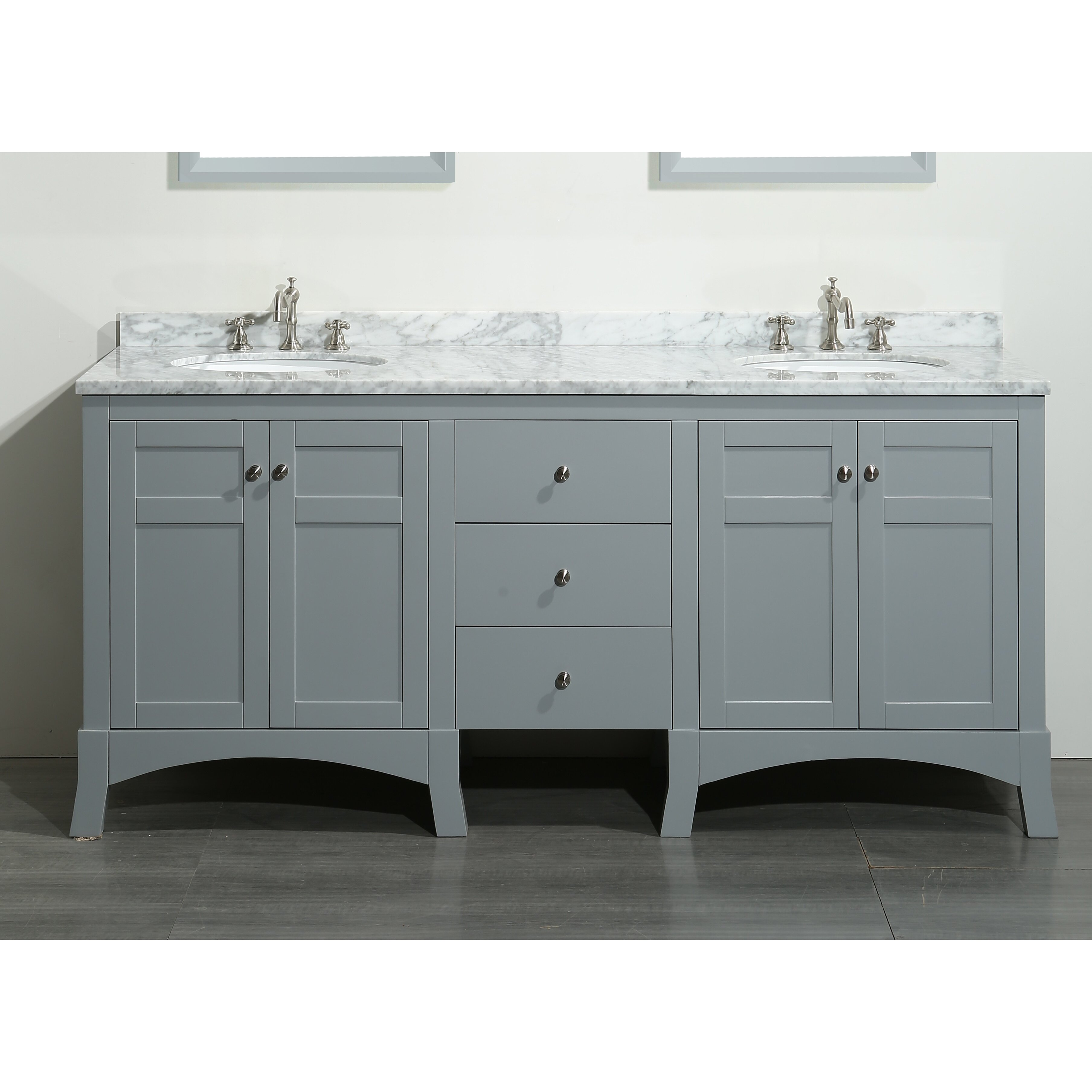 Eviva New York 72 Double Bathroom Vanity Set Reviews Wayfair