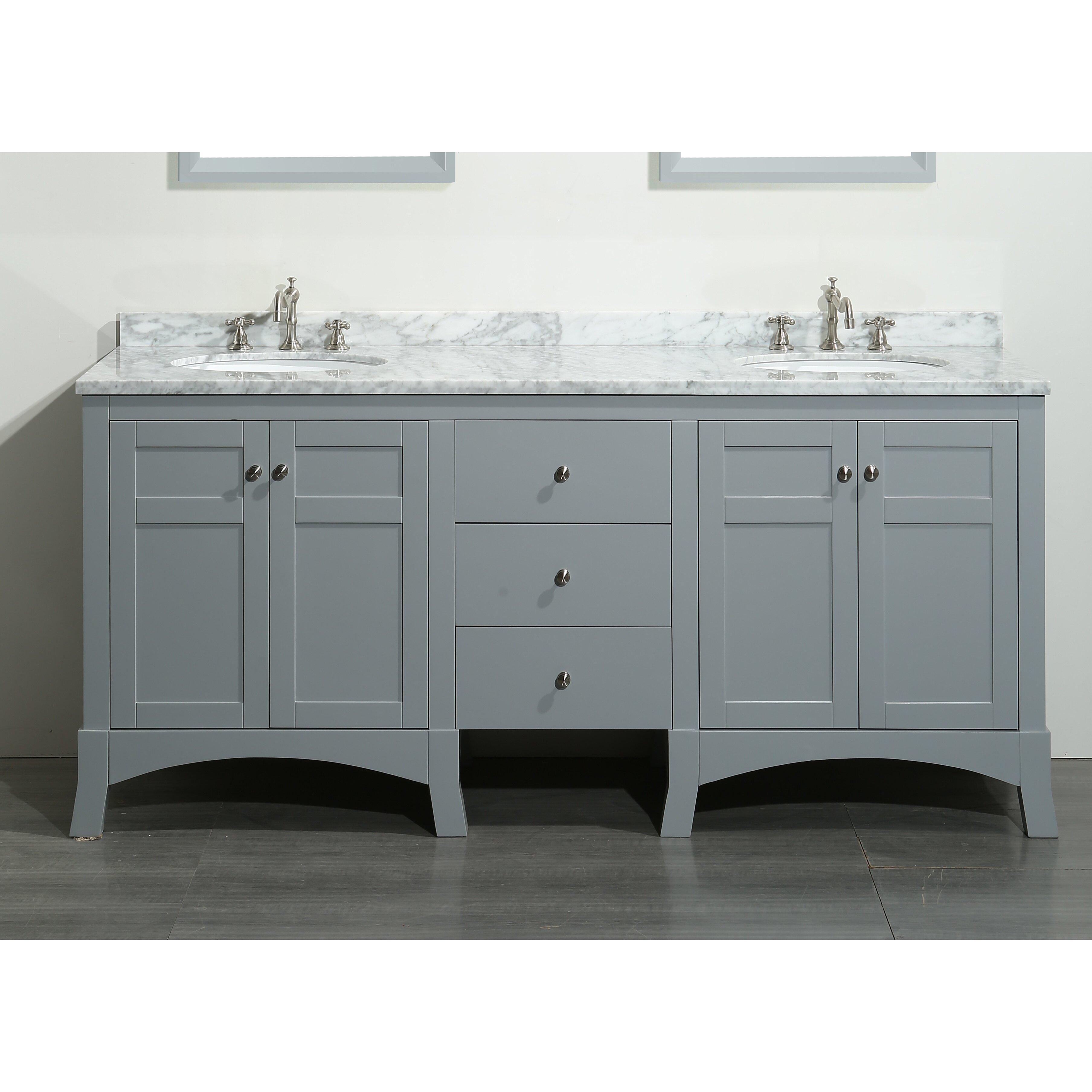 eviva new york 72 double bathroom vanity set reviews wayfair