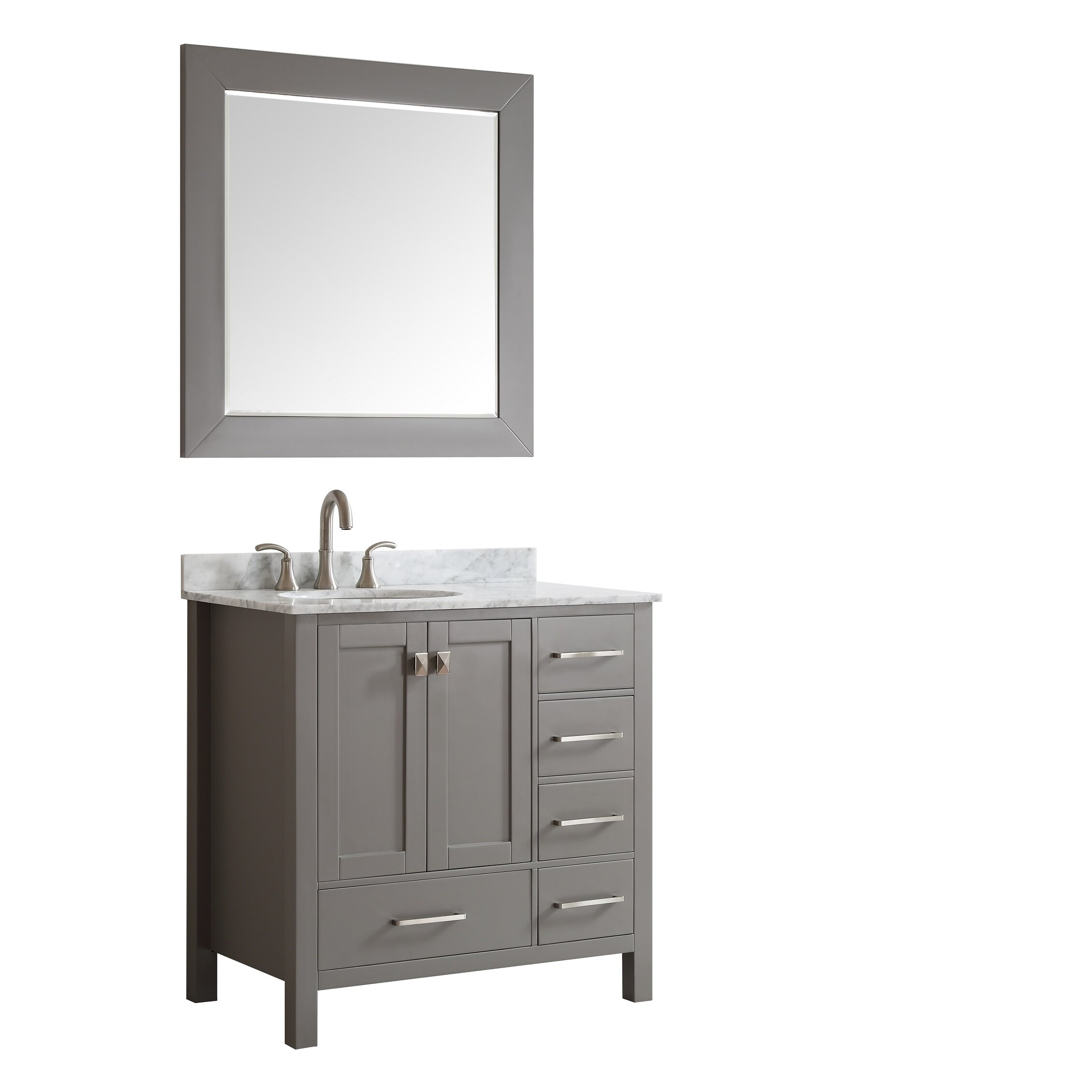 Eviva Aberdeen 36 Single Modern Bathroom Vanity Set Wayfair