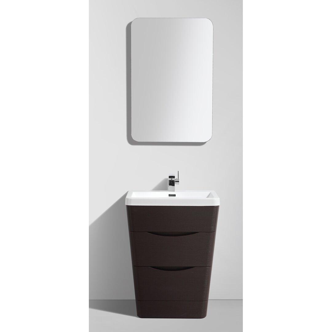 "Eviva Victoria 25"" Single Modern Bathroom Vanity Set & Reviews"