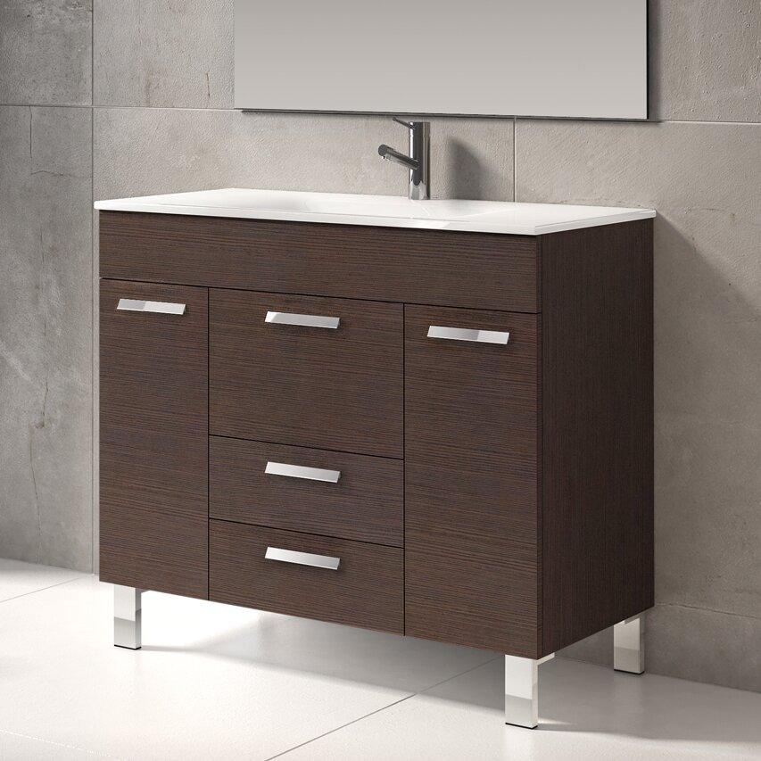 Eviva venus 36 single modern bathroom vanity set - Contemporary bathroom vanity sets ...