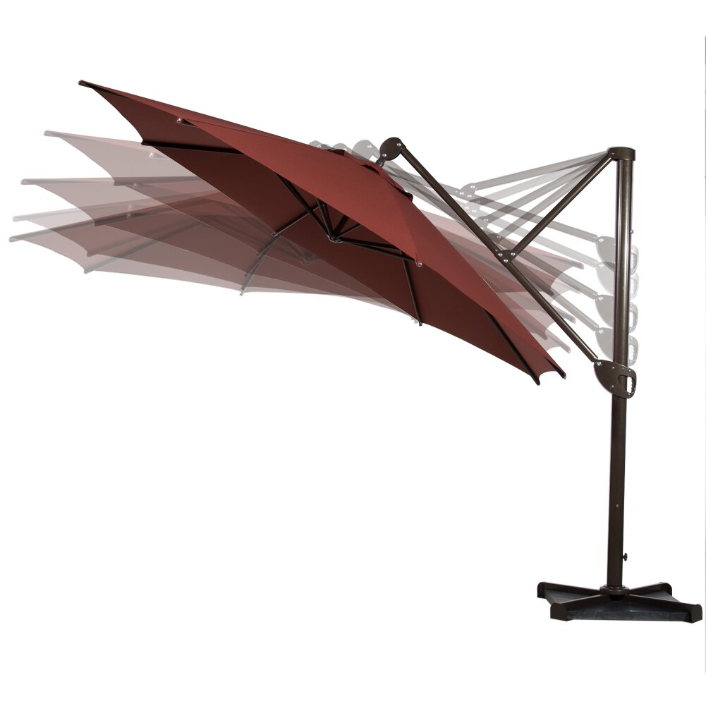 Abba patio 11 39 cantilever umbrella wayfair for Balcony umbrella