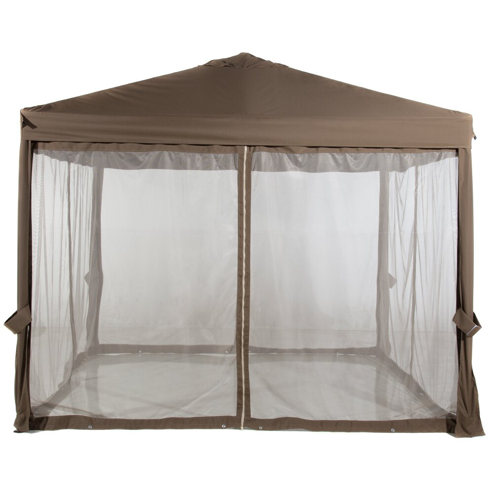 Abba patio abba patio 10 ft w x 10 ft d canopy wayfair for 10x10 in square feet